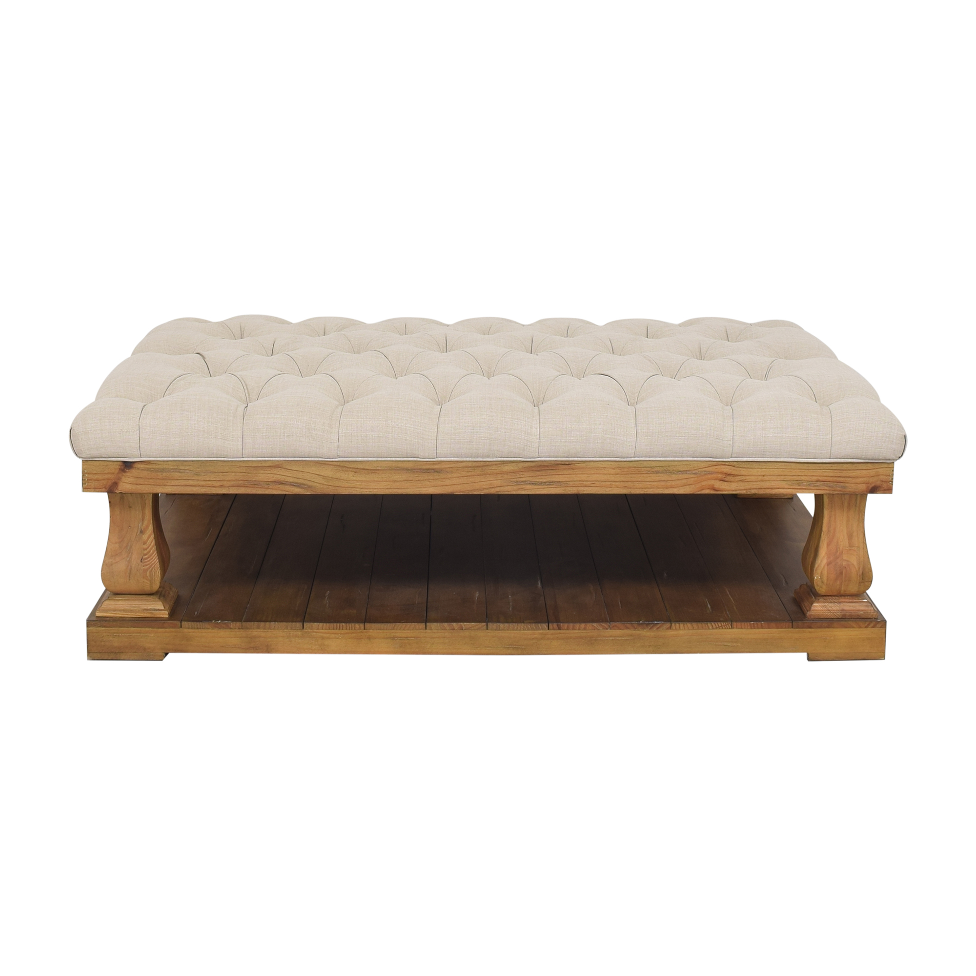 Inspire Q Inspire Q Knightsbridge Tufted Baluster Cocktail Ottoman pa
