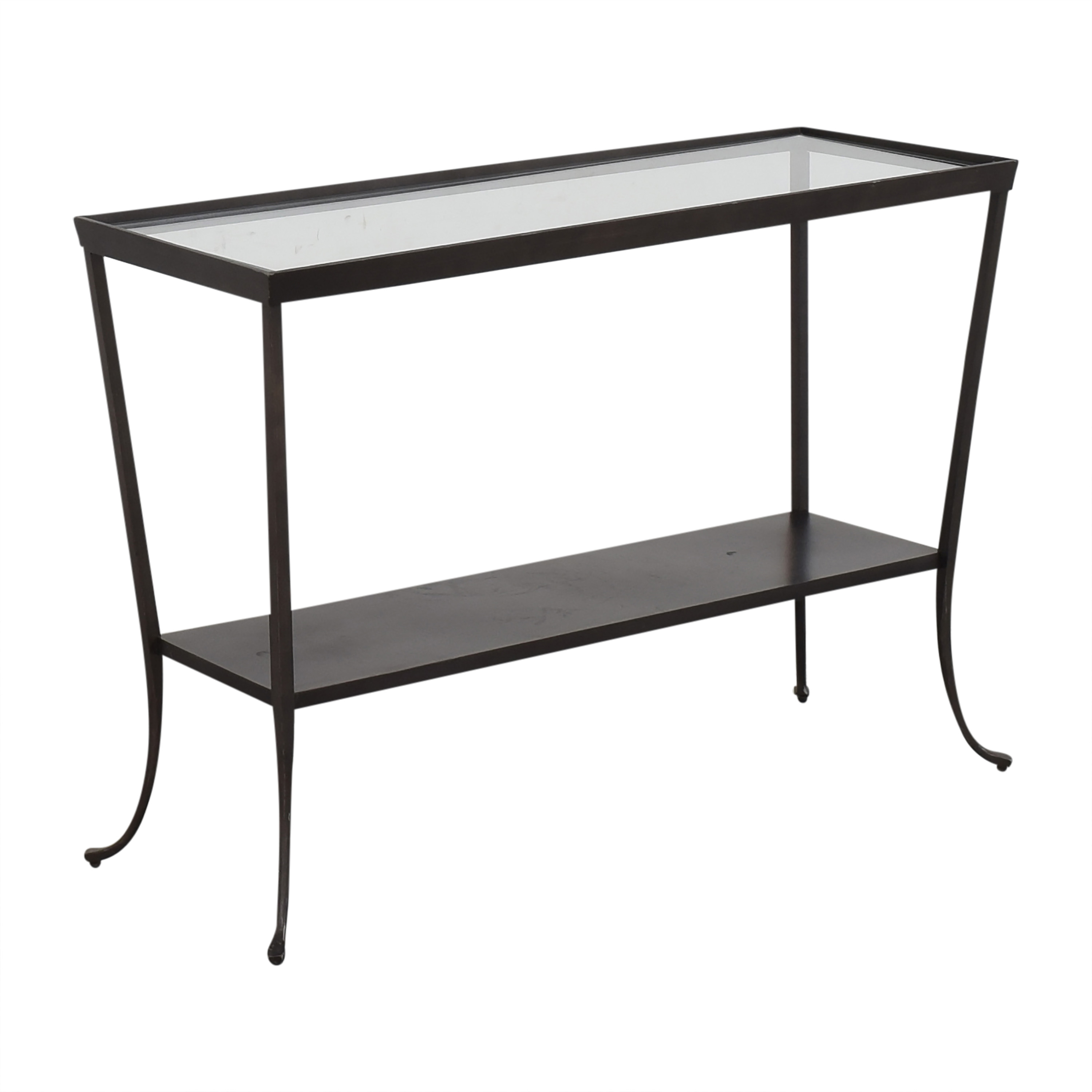 Crate & Barrel Crate & Barrel Console Table with Translucent Surface nj