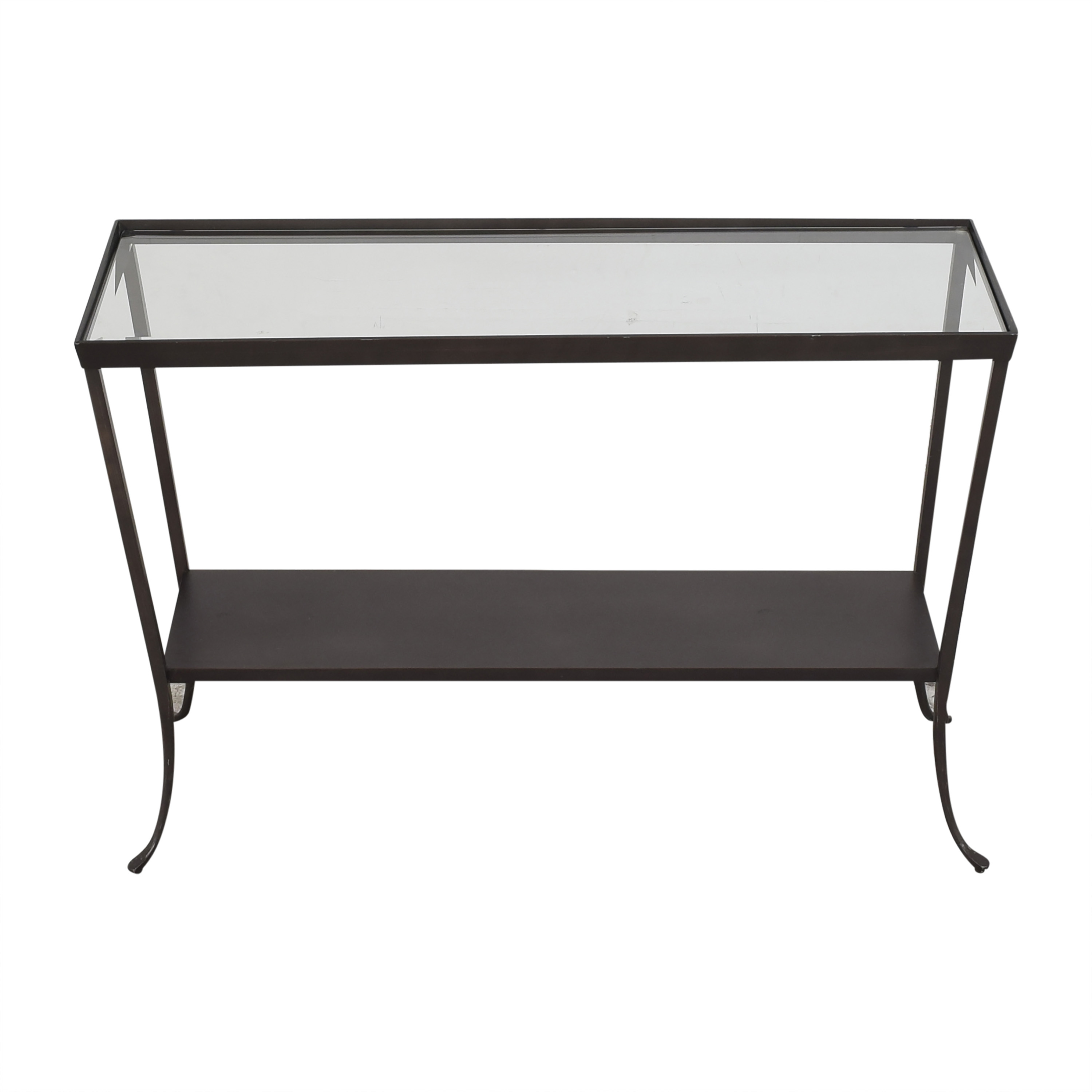 Crate & Barrel Crate & Barrel Console Table with Translucent Surface