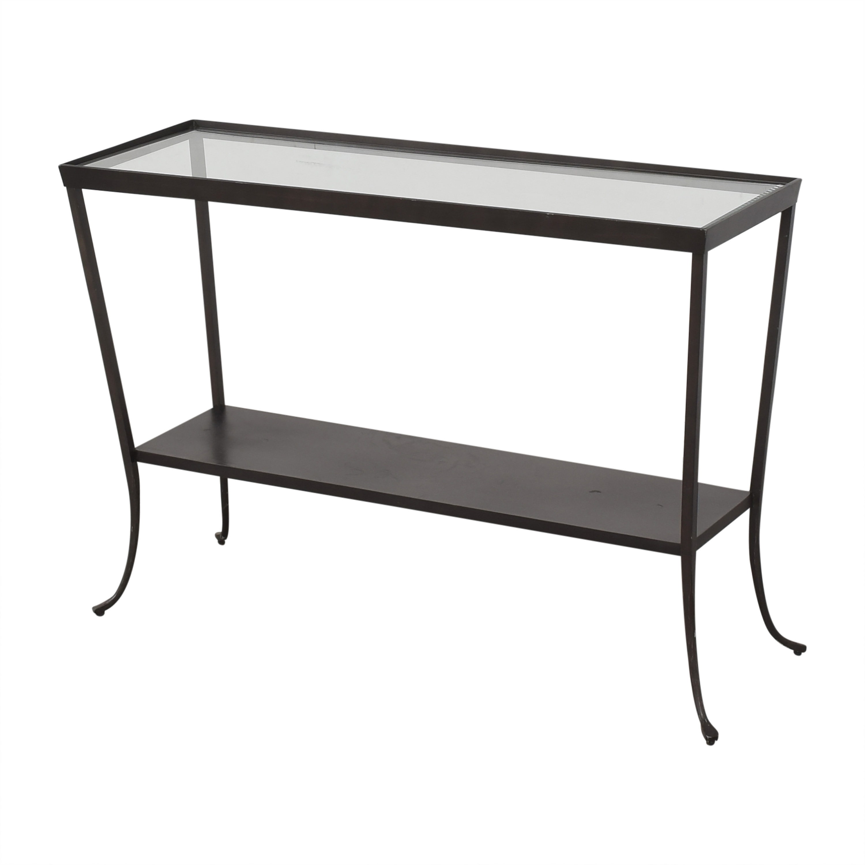buy Crate & Barrel Crate & Barrel Console Table with Translucent Surface online
