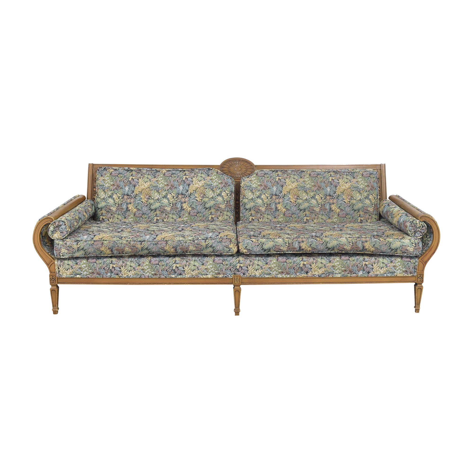 Roma Furniture Roma Furniture Leaf Patterned Sofa dimensions