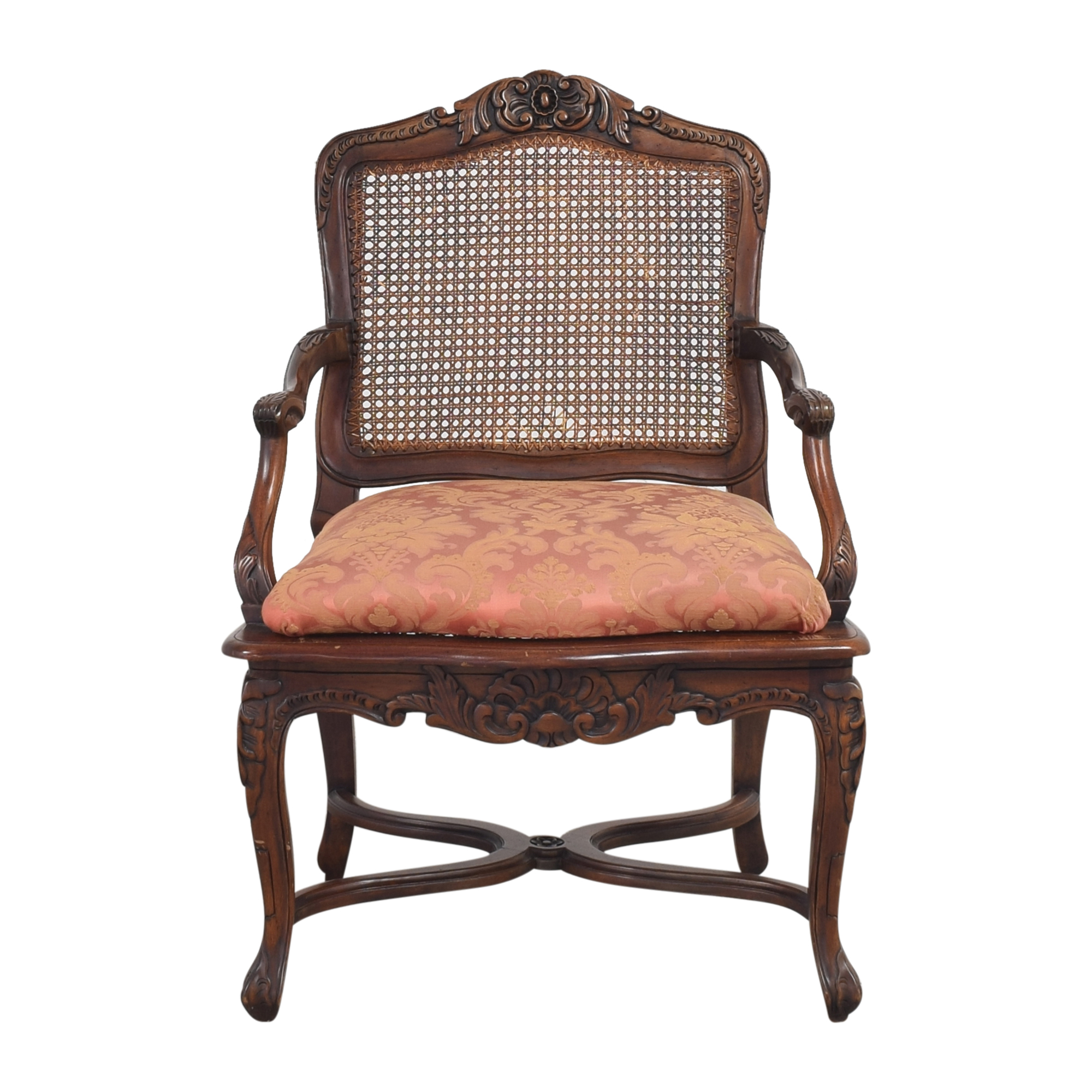 Cane Back Accent Chair