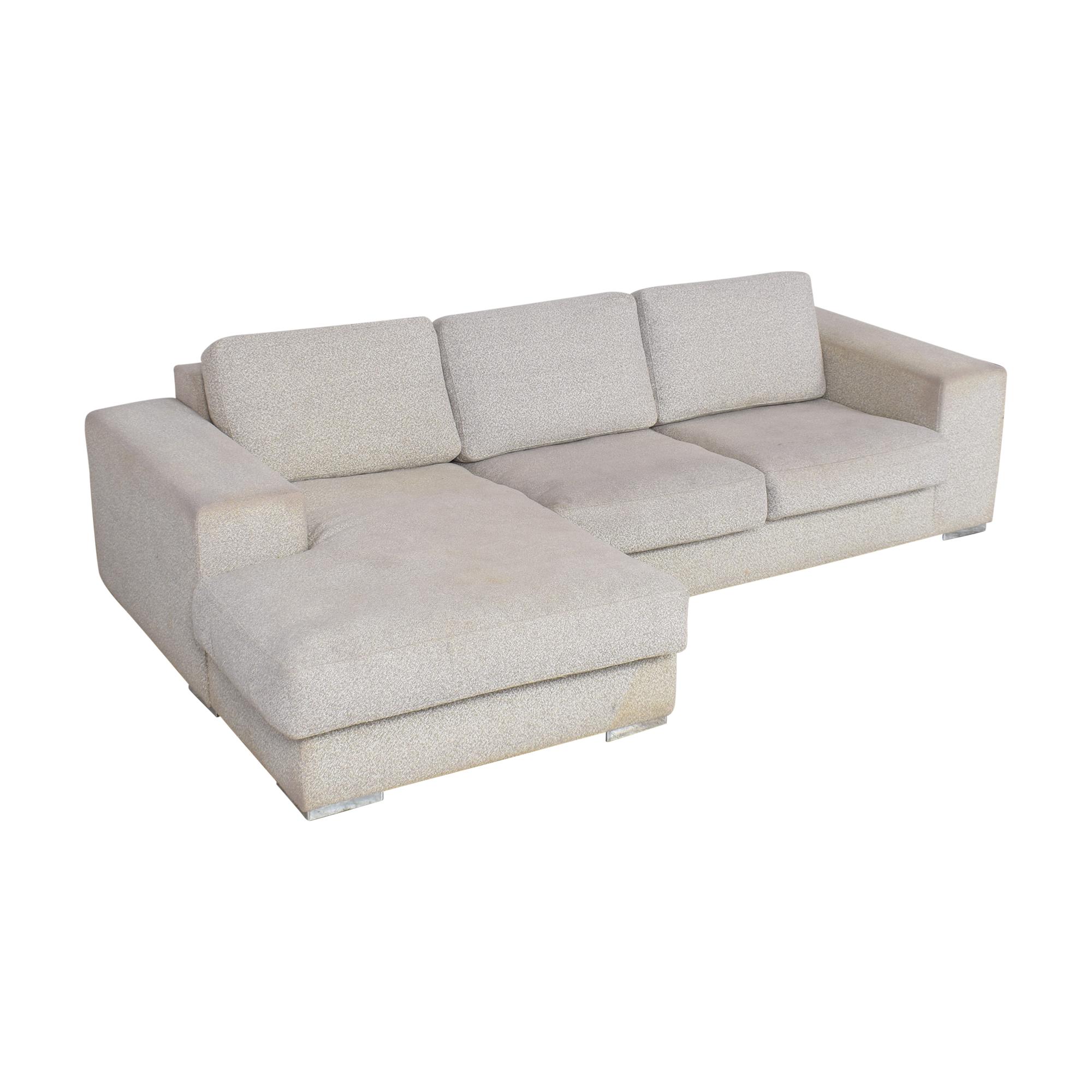 BoConcept BoConcept Chaise Sectional Sofa light gray