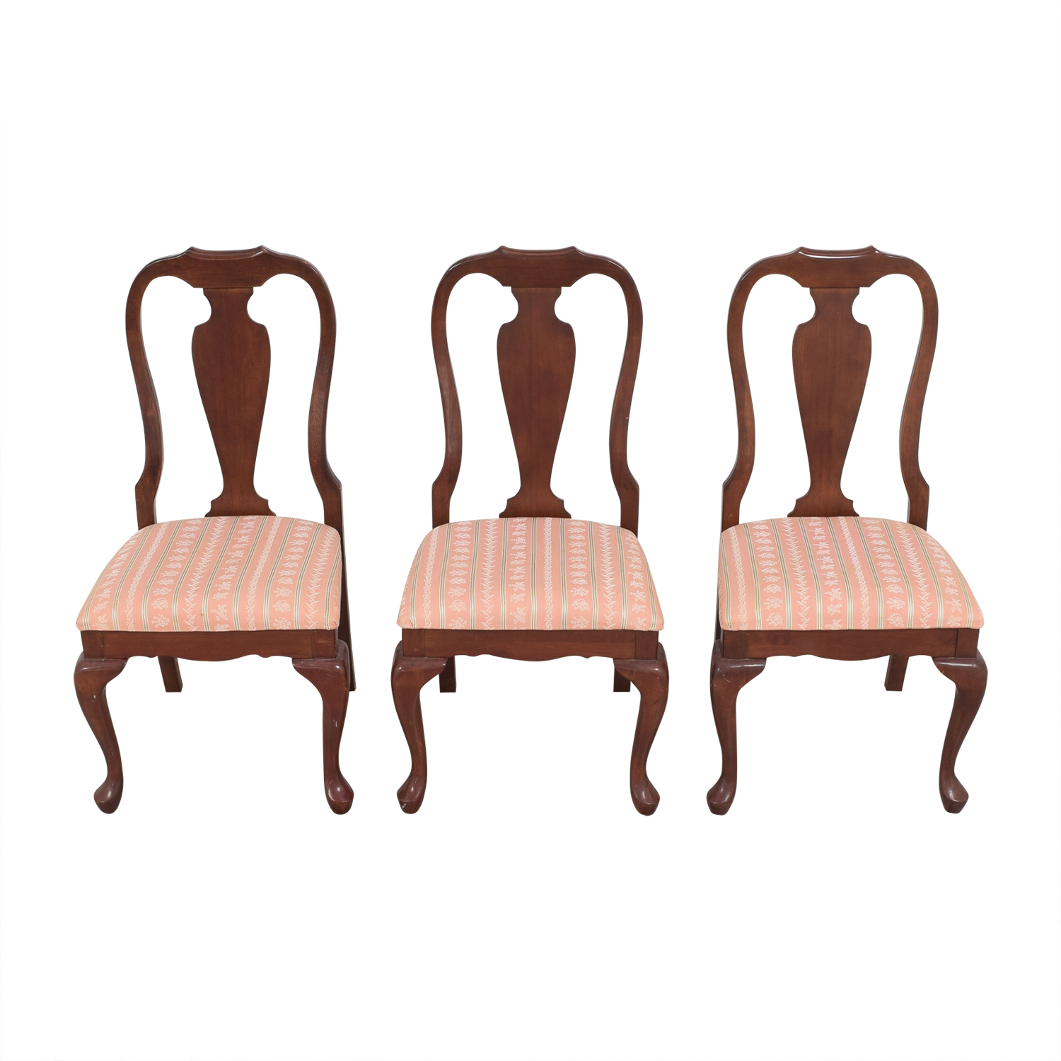 Upholstered Dining Chairs pink and brown