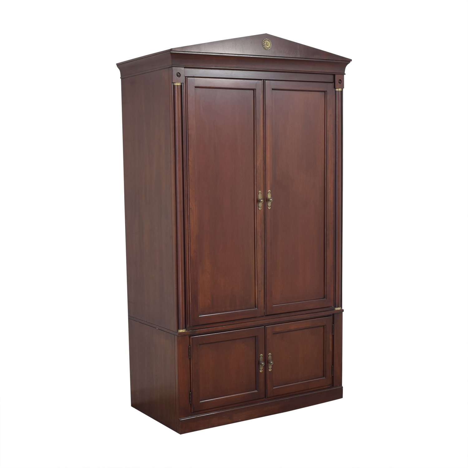 shop Ethan Allen Medallion Media Armoire Ethan Allen Storage