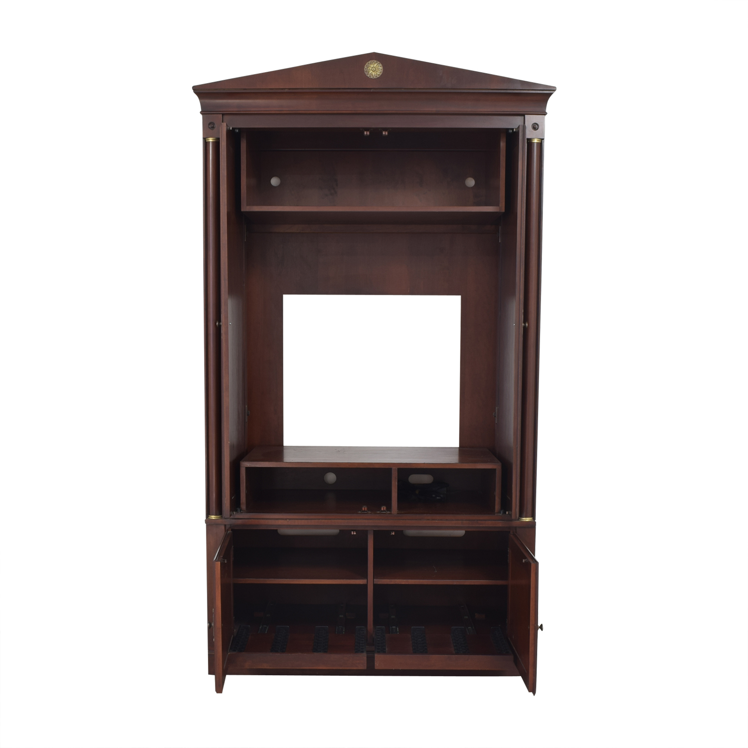 buy Ethan Allen Medallion Media Armoire Ethan Allen Wardrobes & Armoires