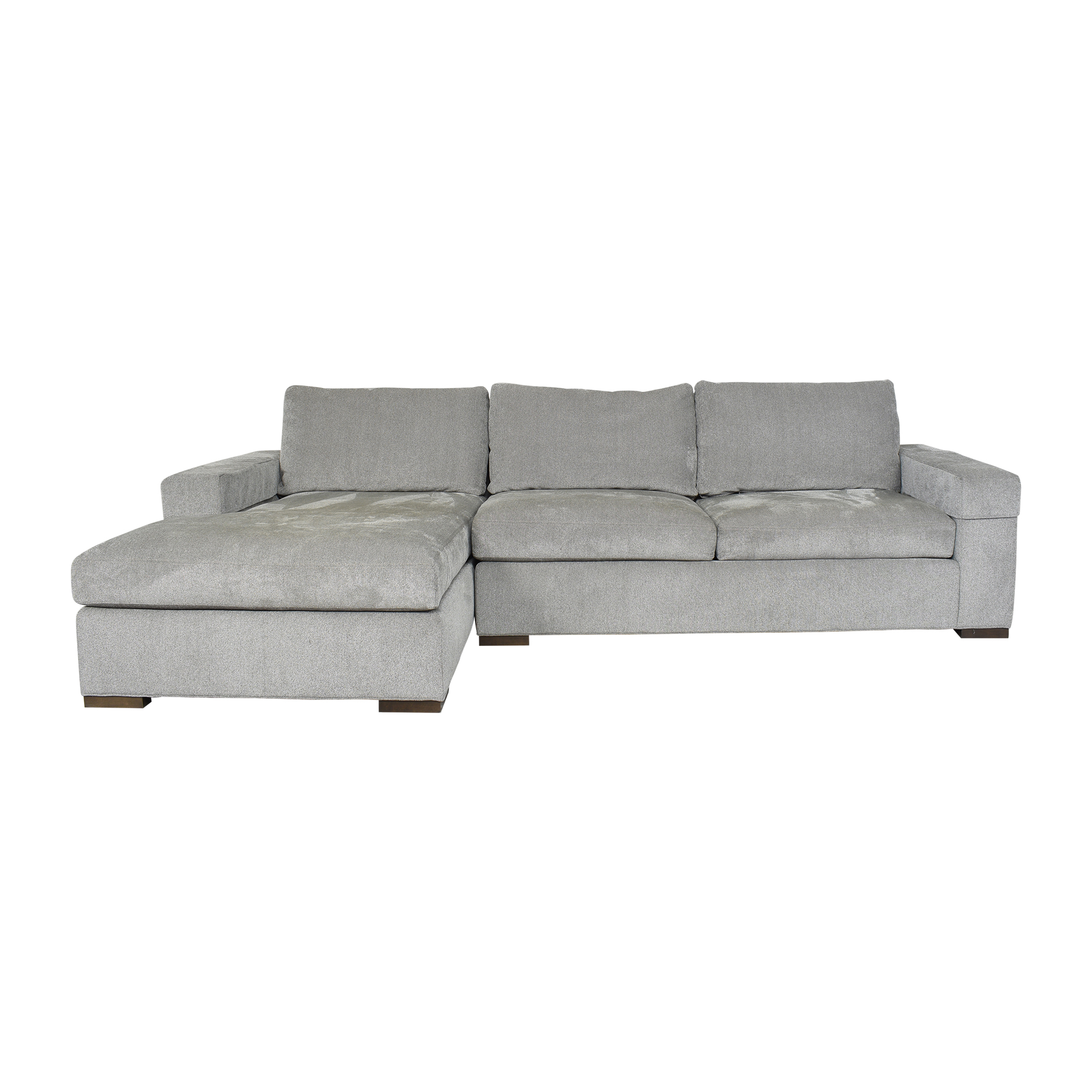 shop Ethan Allen Conway Two Piece Chaise Sectional Ethan Allen Sofas