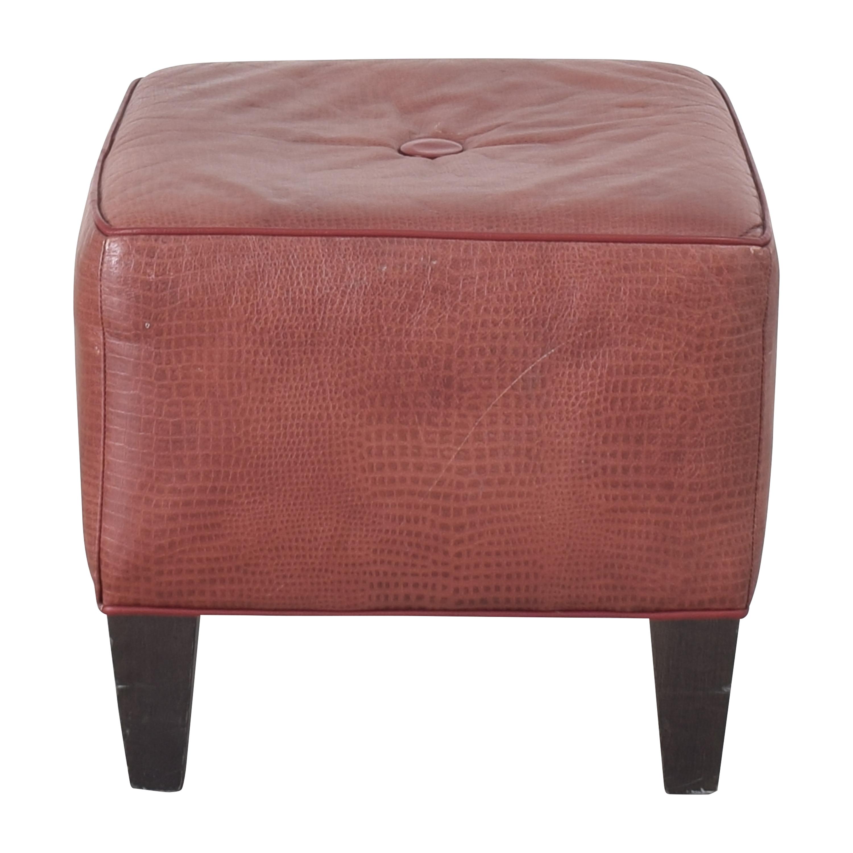 shop Ethan Allen Square Ottoman Ethan Allen Chairs