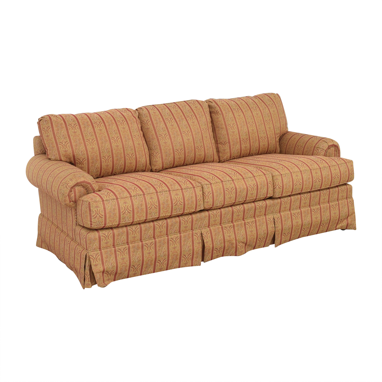 buy Thomasville Skirted Three Cushion Sofa Thomasville