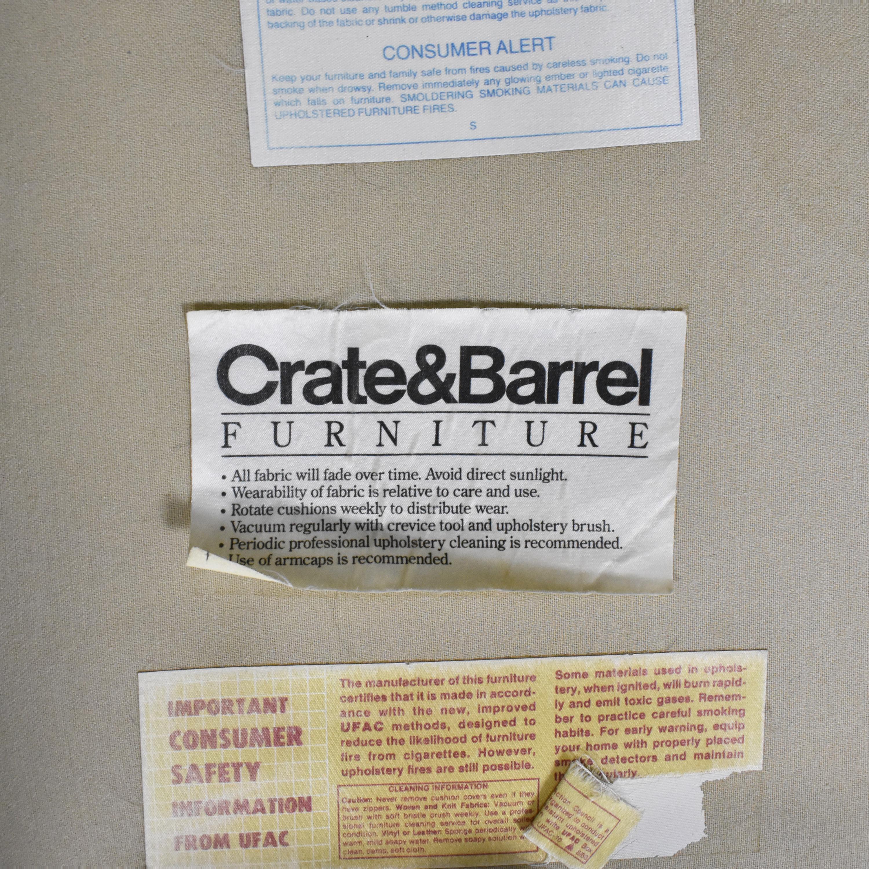 shop Crate & Barrel Three Cushion Roll Arm Sofa Crate & Barrel Classic Sofas