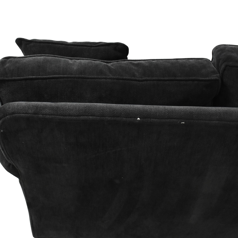 buy Crate & Barrel Three Cushion Roll Arm Sofa Crate & Barrel Sofas