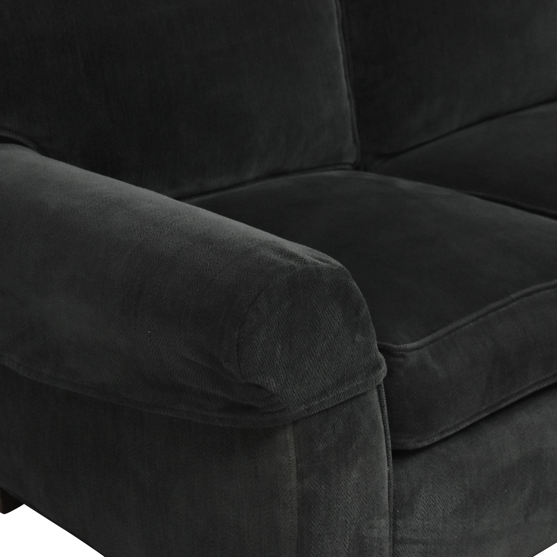 shop Crate & Barrel Crate & Barrel Three Cushion Roll Arm Sofa online