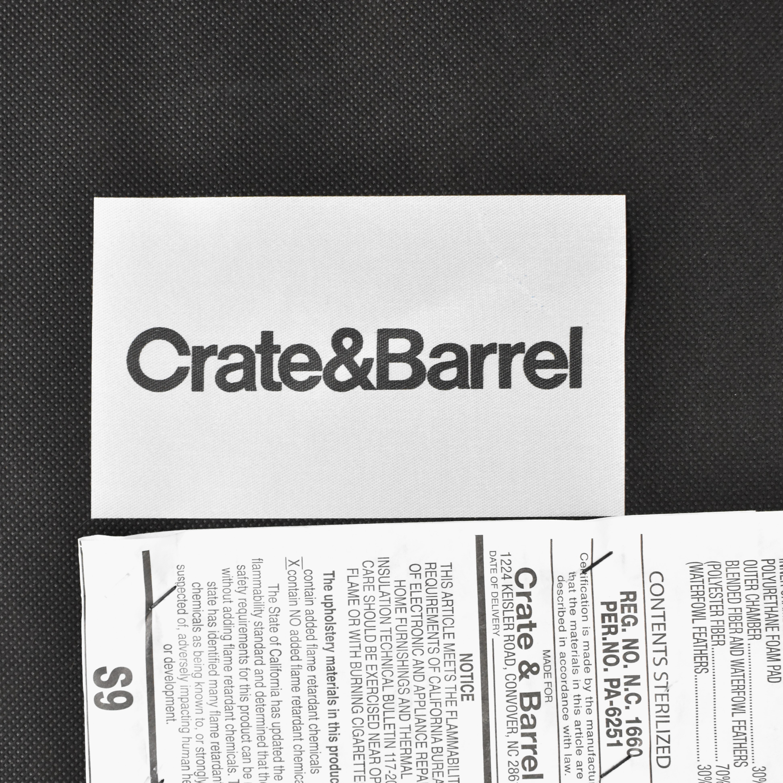 Crate & Barrel Lounge II Storage Ottoman sale