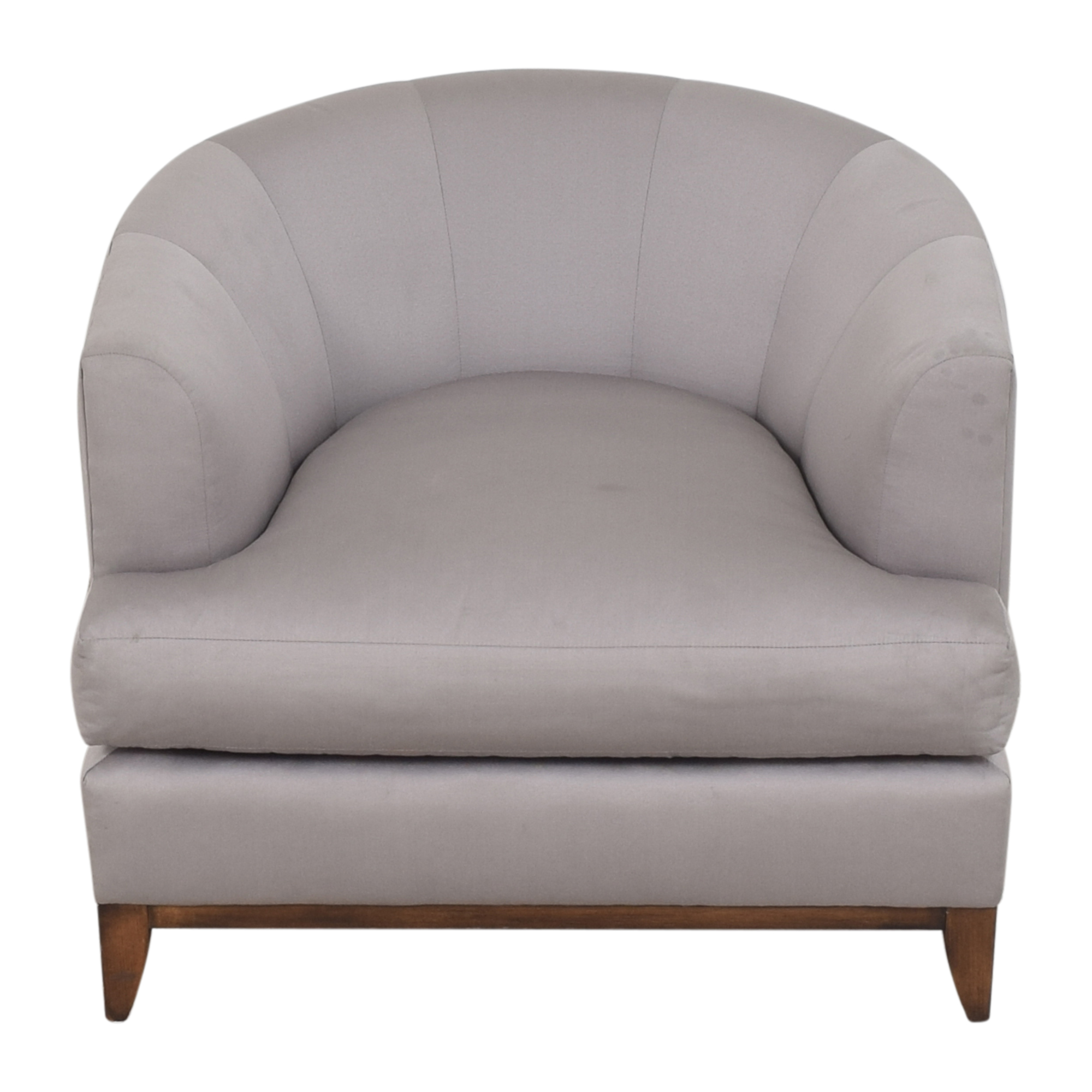 Barbara Barry Barbara Barry for Henredon Channel Back Tub Chair for sale