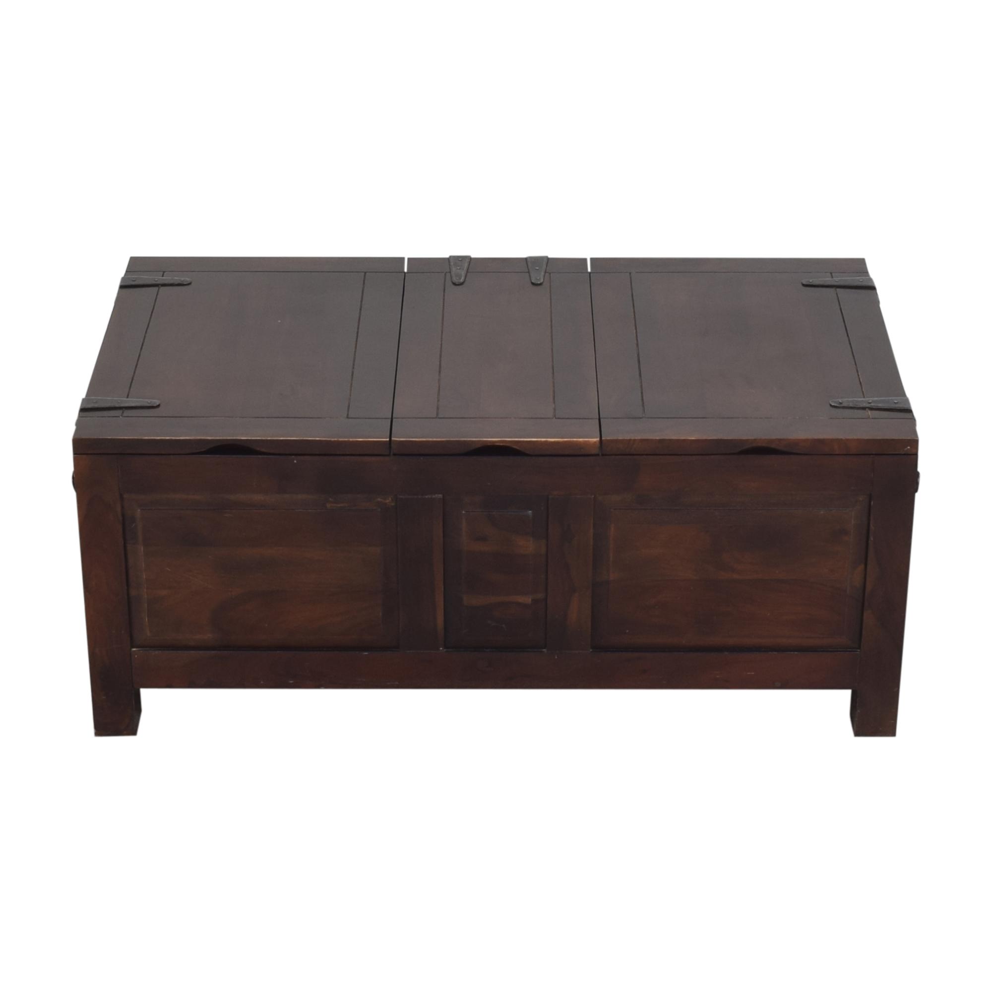 Crate & Barrel Crate & Barrel Hunter II Trunk Storage Coffee Table Trunks