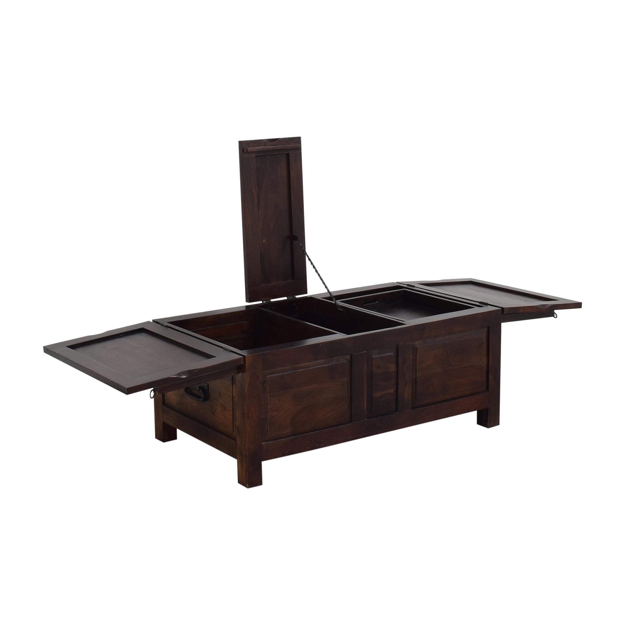 Crate & Barrel Hunter II Trunk Storage Coffee Table / Trunks