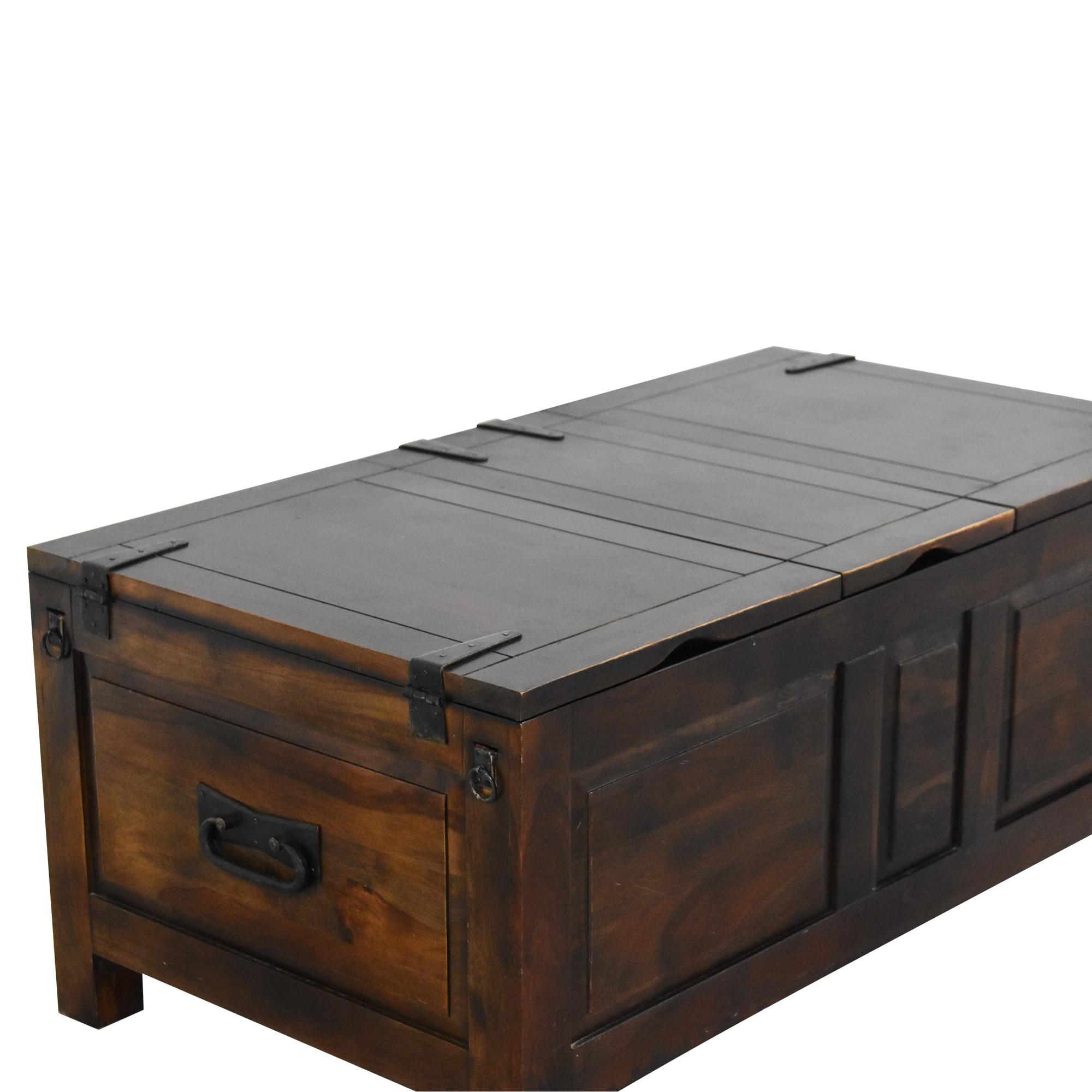 buy Crate & Barrel Crate & Barrel Hunter II Trunk Storage Coffee Table online
