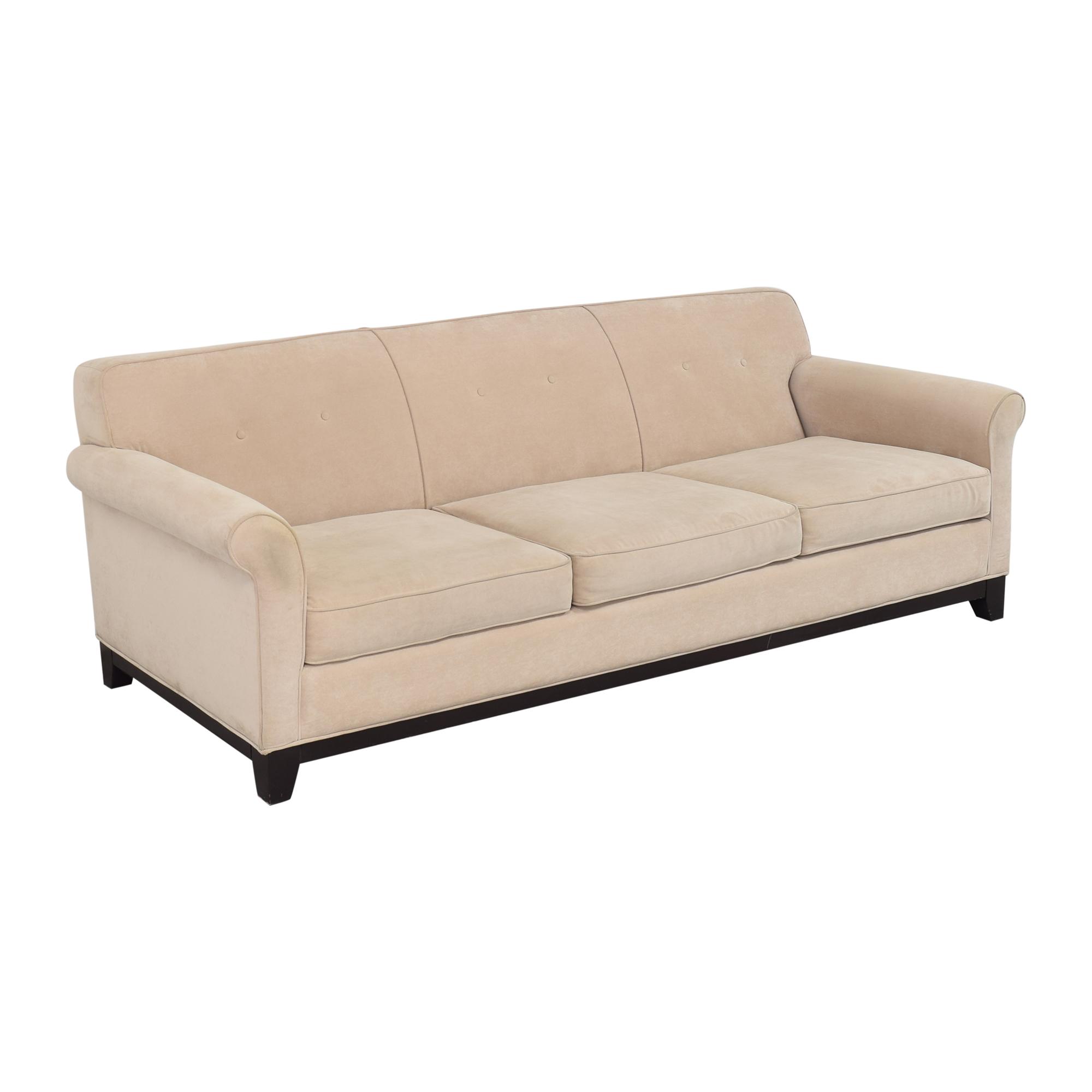 Three Cushion Roll Arm Sofa nj