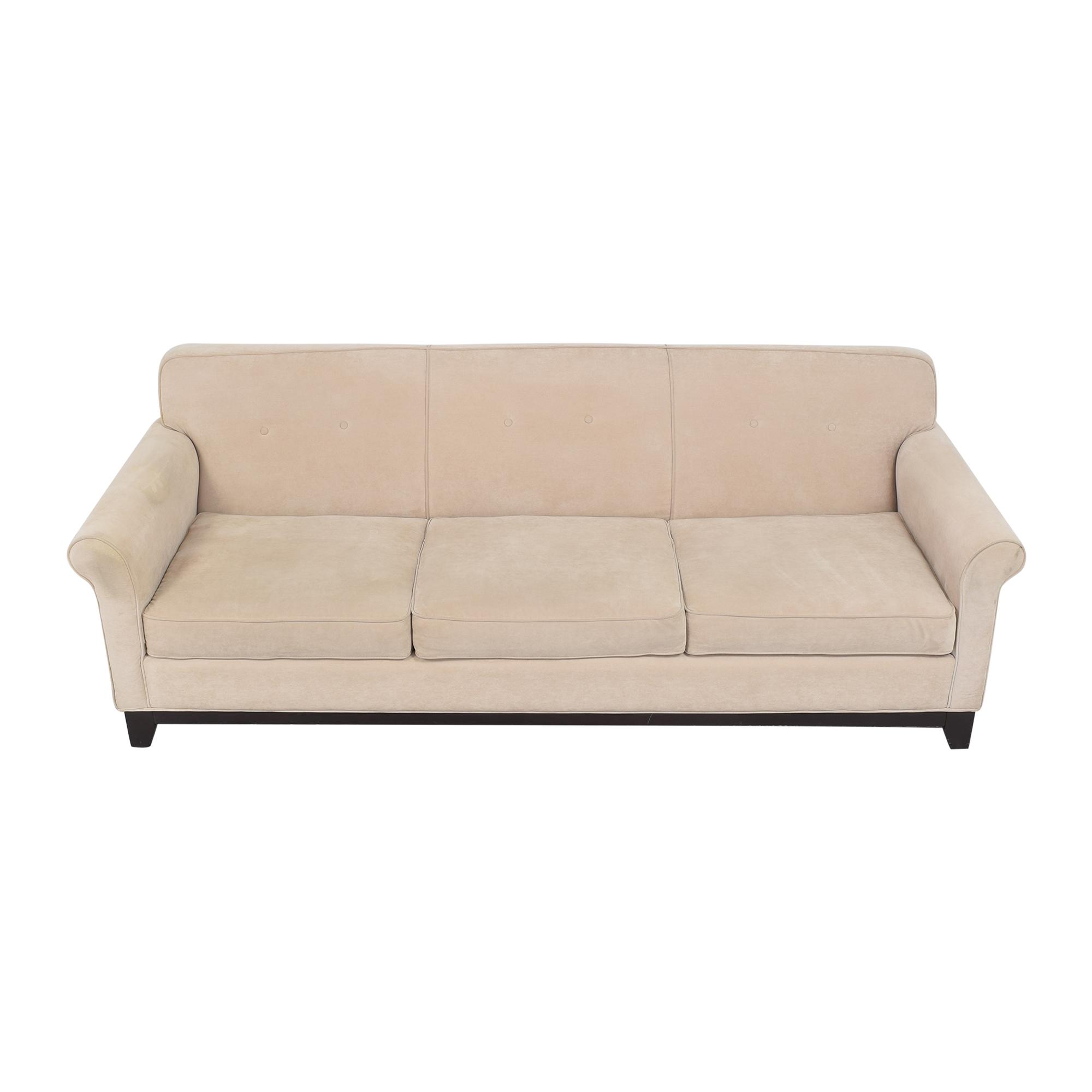 buy Three Cushion Roll Arm Sofa  Classic Sofas