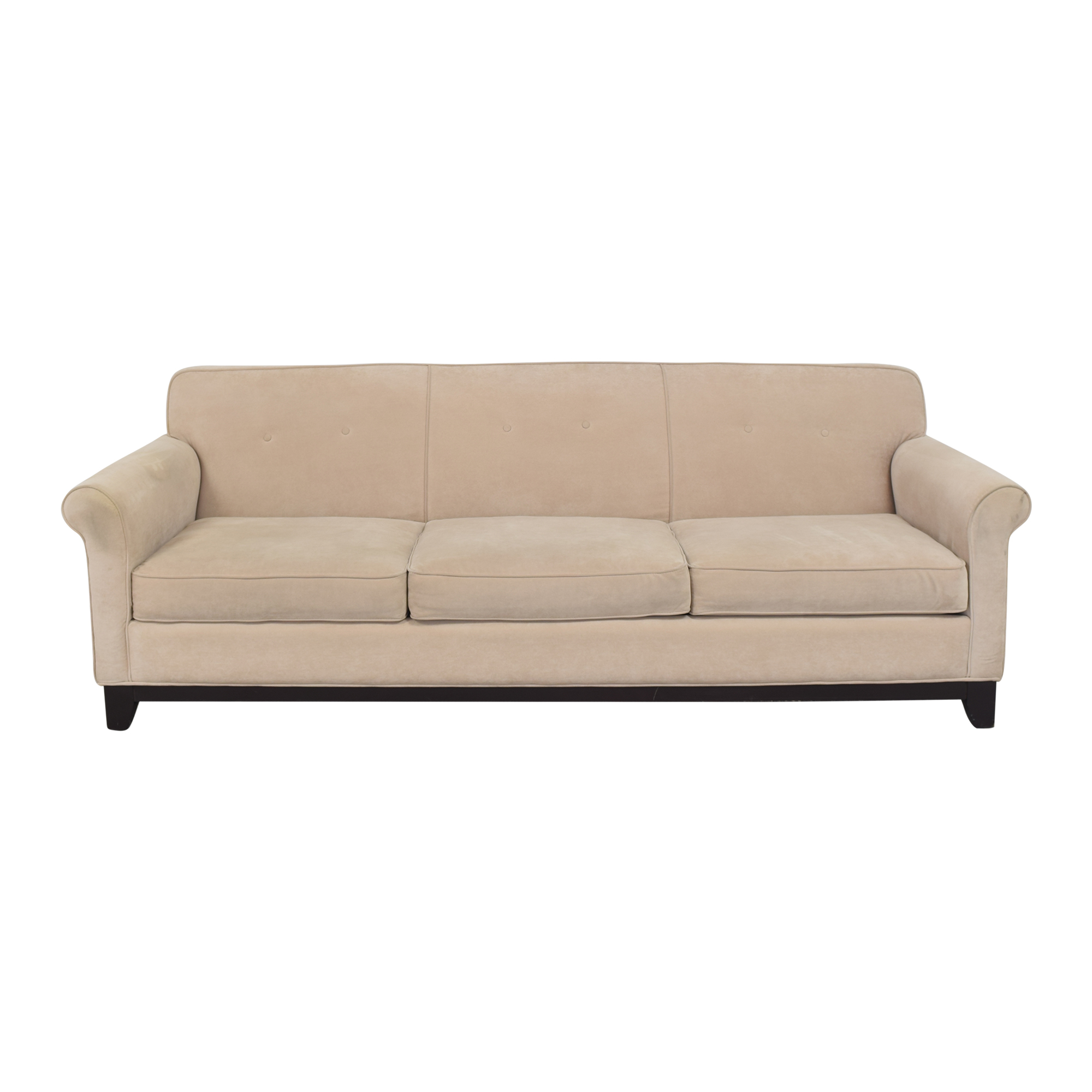 Three Cushion Roll Arm Sofa sale