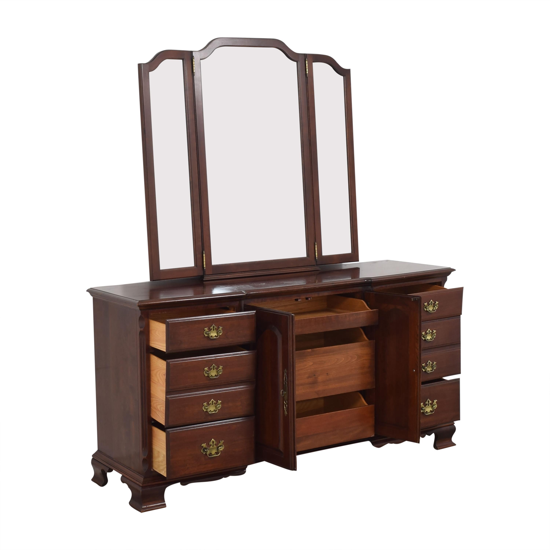 shop Pennsylvania House Dresser with Tri-Fold Mirror Pennsylvania House Dressers