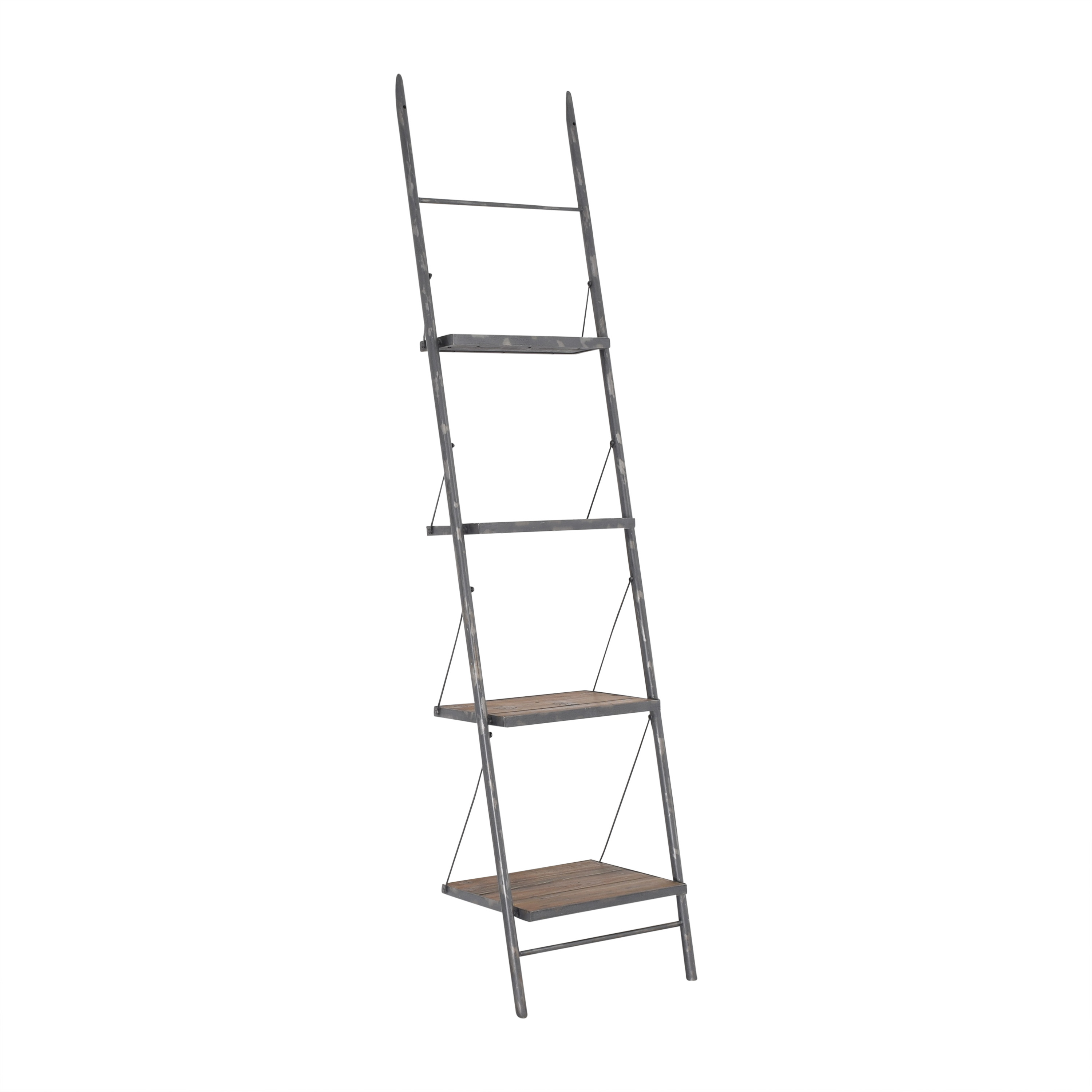 Design MIX Furniture Design MIX Furniture Leaning Ladder Shelf brown and gray