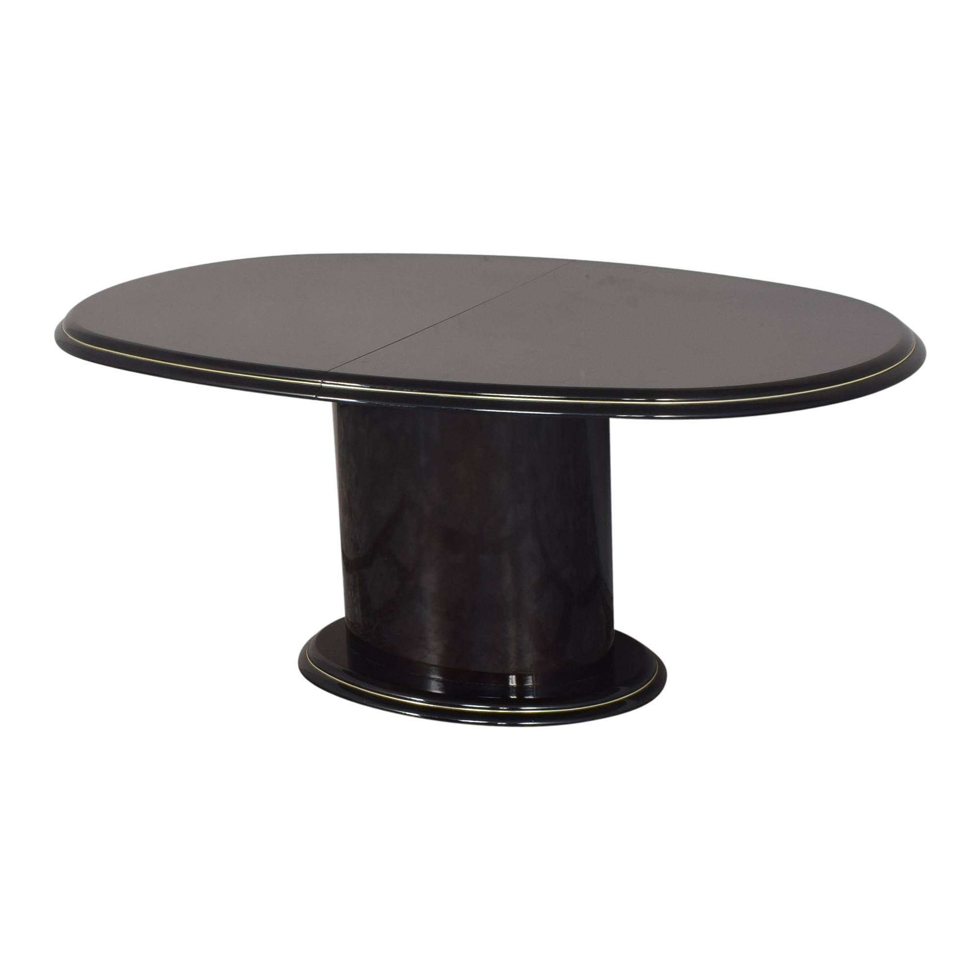 Extendable Single Pedestal Dining Table sale