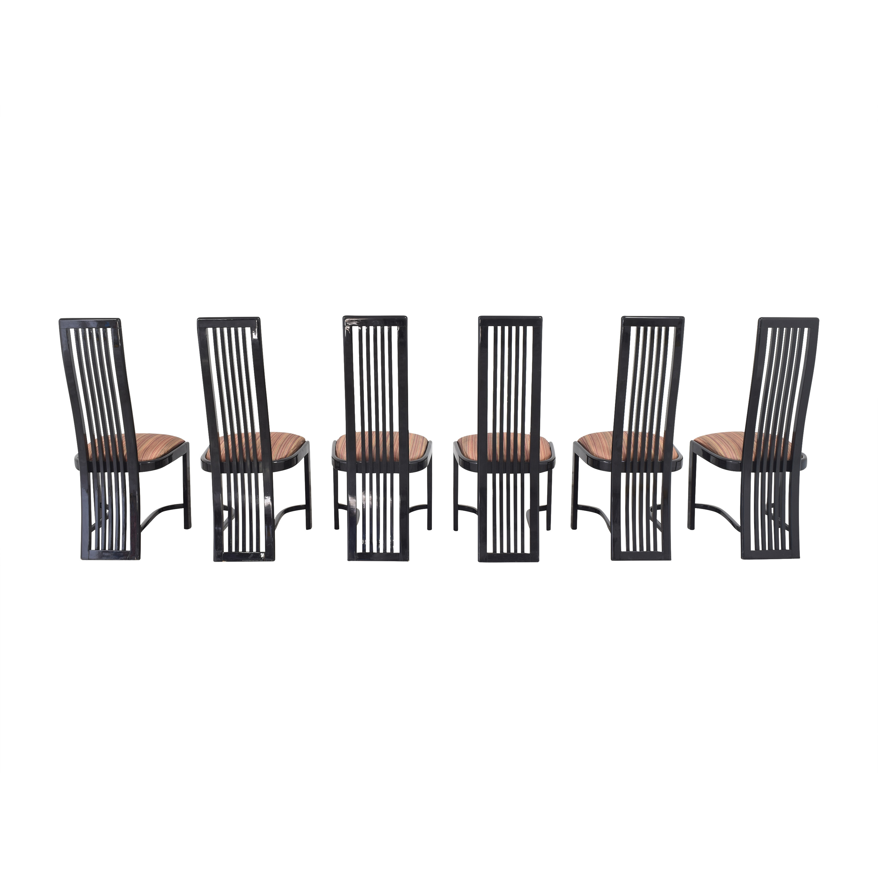 Italian-Style High Back Dining Chairs