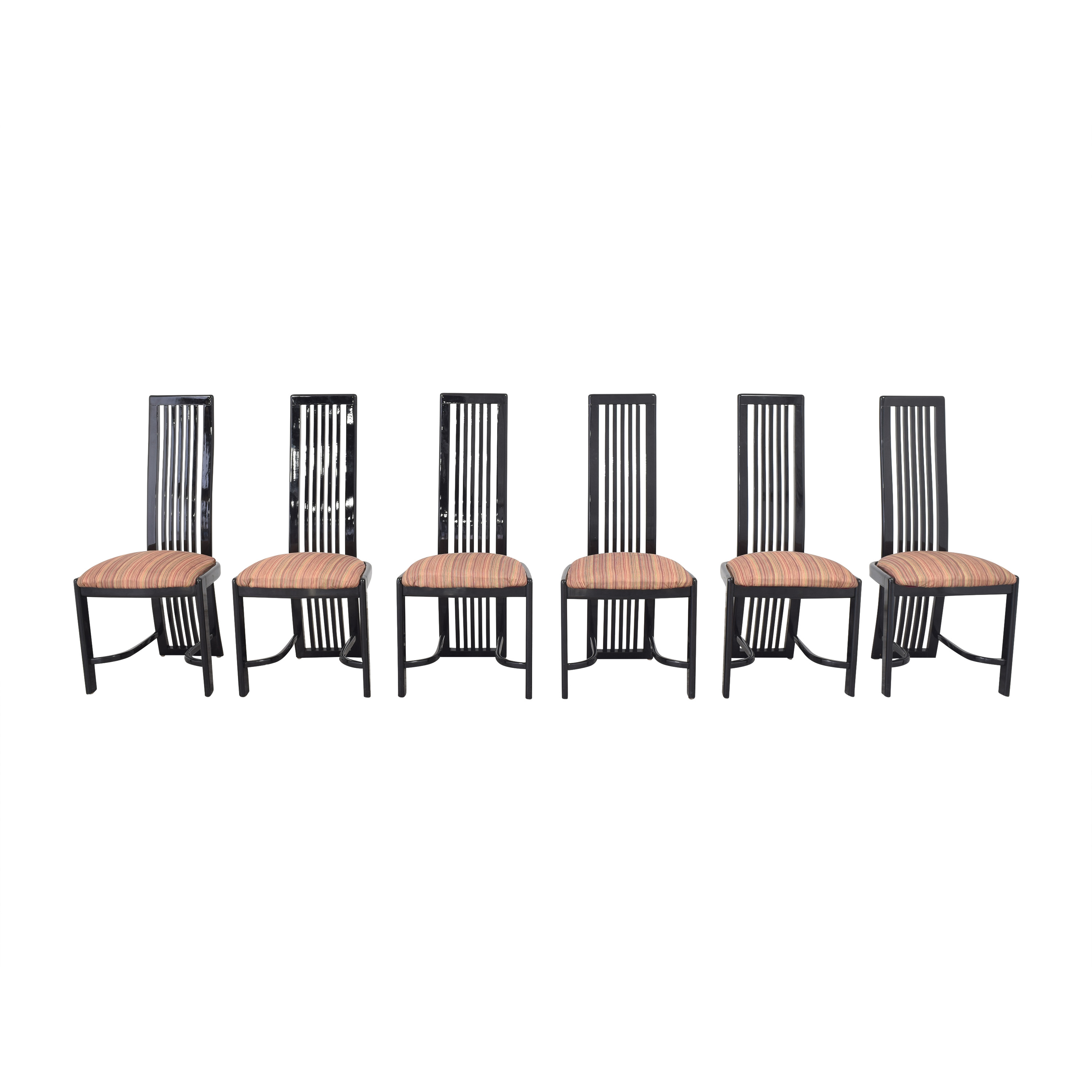 Italian-Style High Back Dining Chairs used