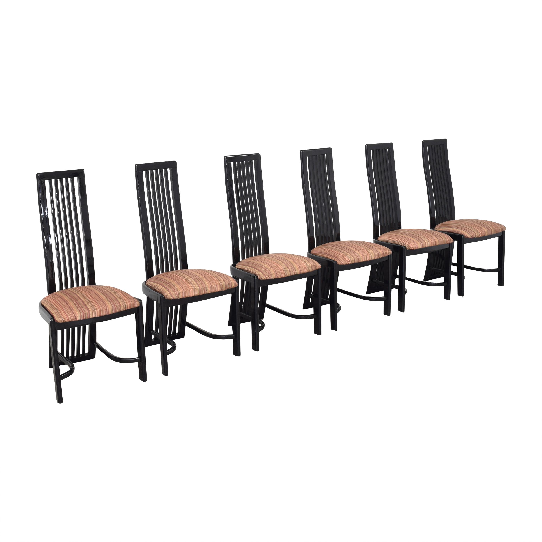Italian-Style High Back Dining Chairs nj