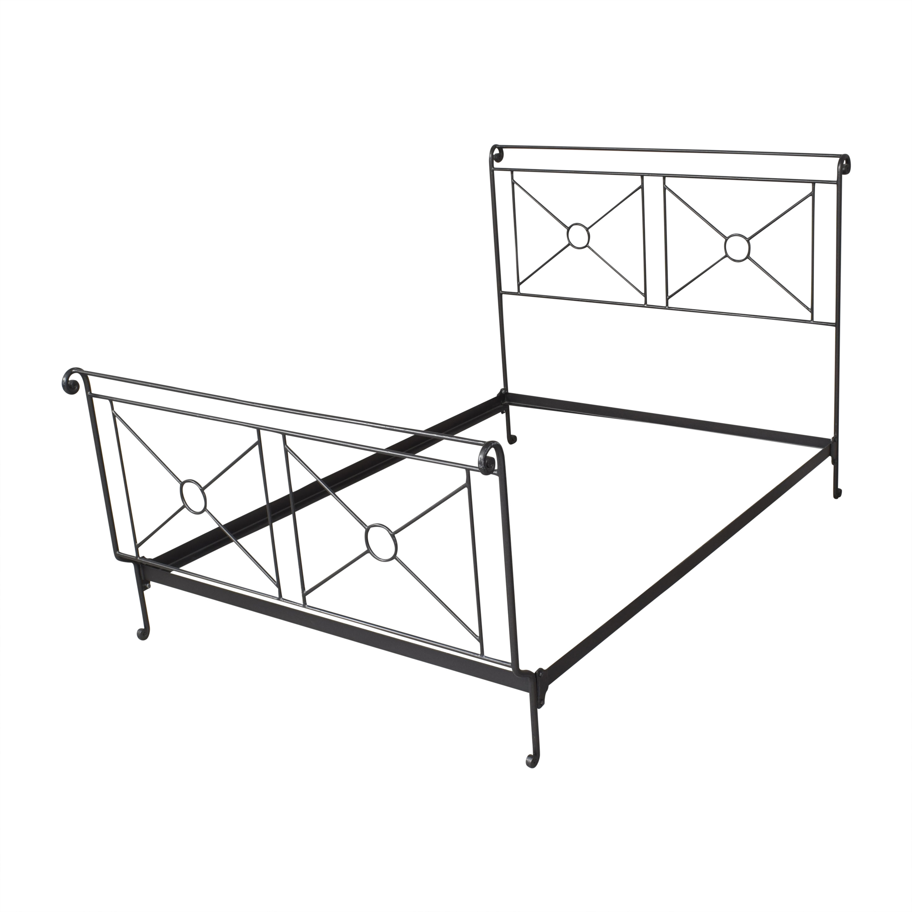 Charles P. Rogers Charles P. Rogers Campaign Openwork Full Bed Bed Frames
