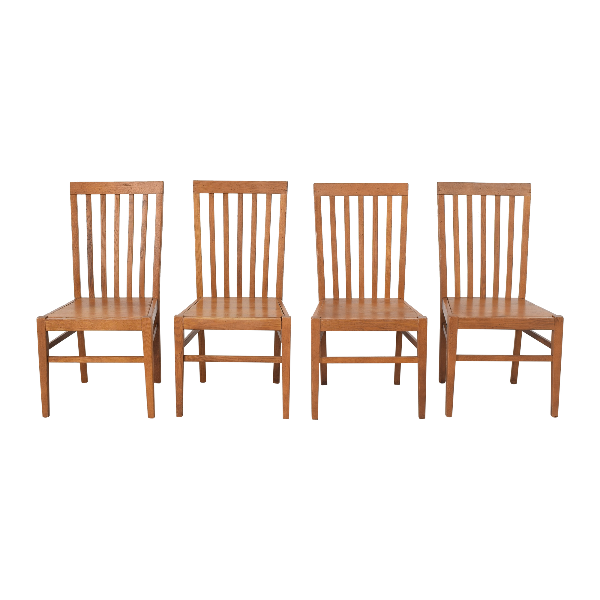 Crate & Barrel Crate & Barrel Slat Back Dining Chairs ct
