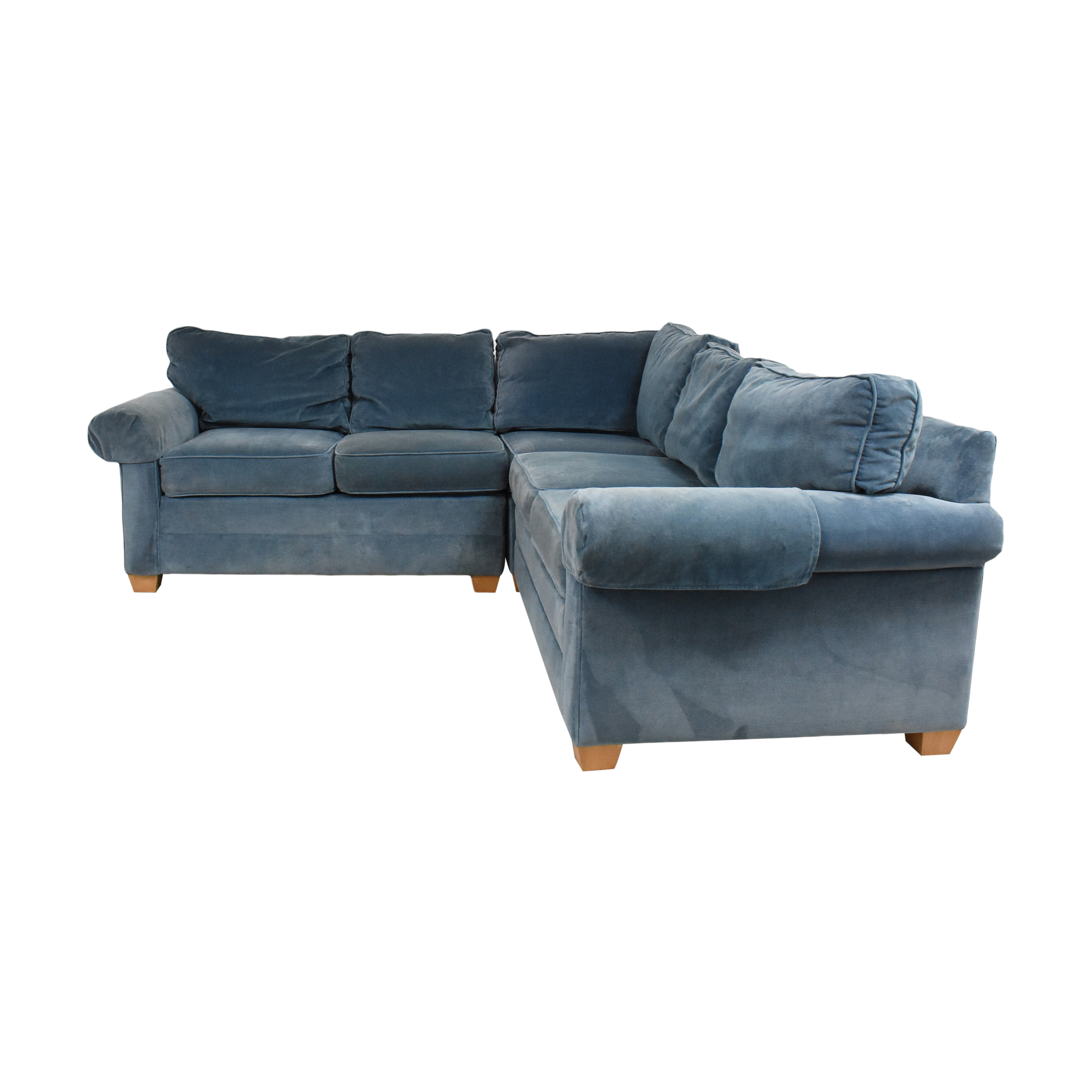 buy Ethan Allen Bennett Three Piece Sectional Sofa Ethan Allen Sectionals