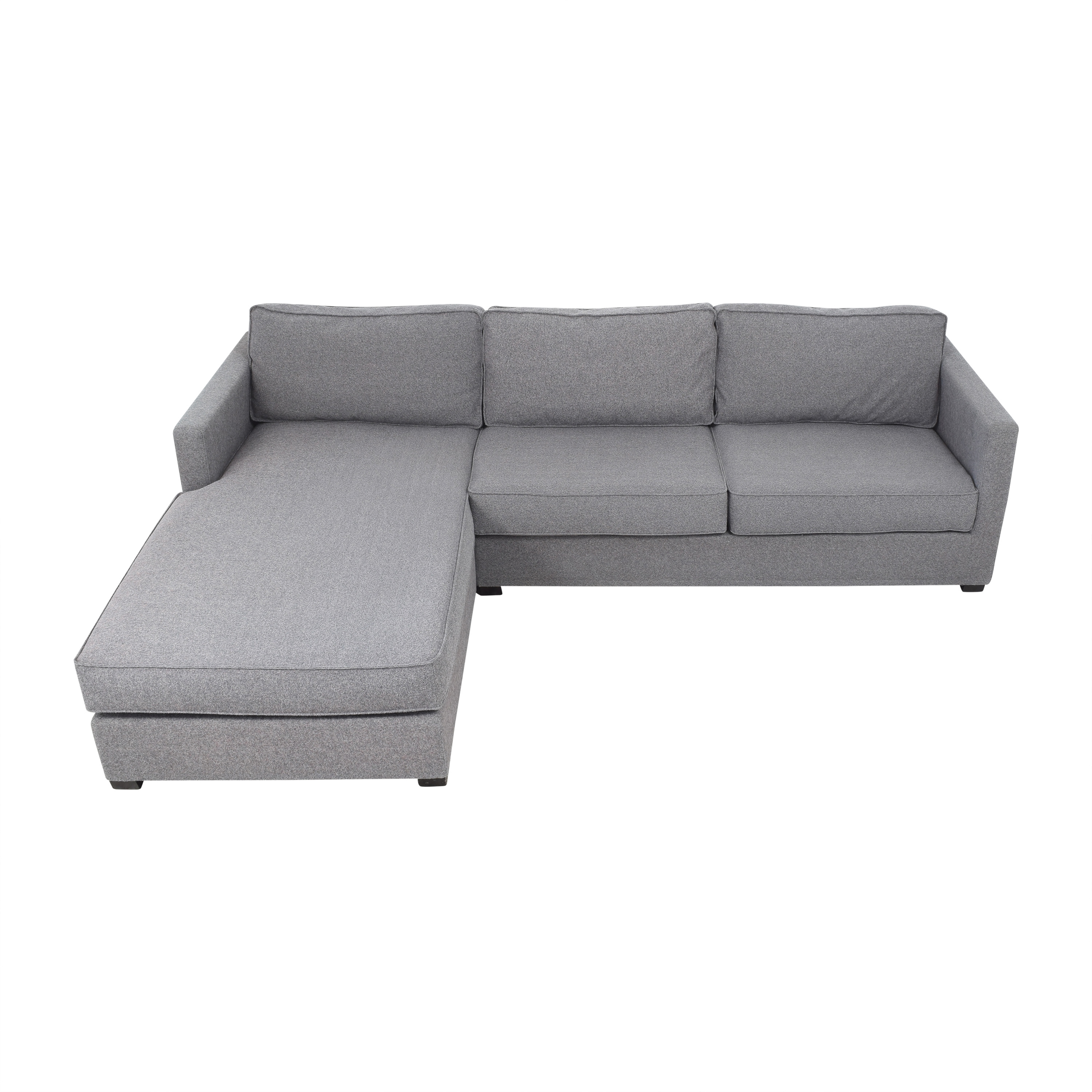 A & G Merch A & G Merch Two Piece Sectional Sofa with Chaise nyc