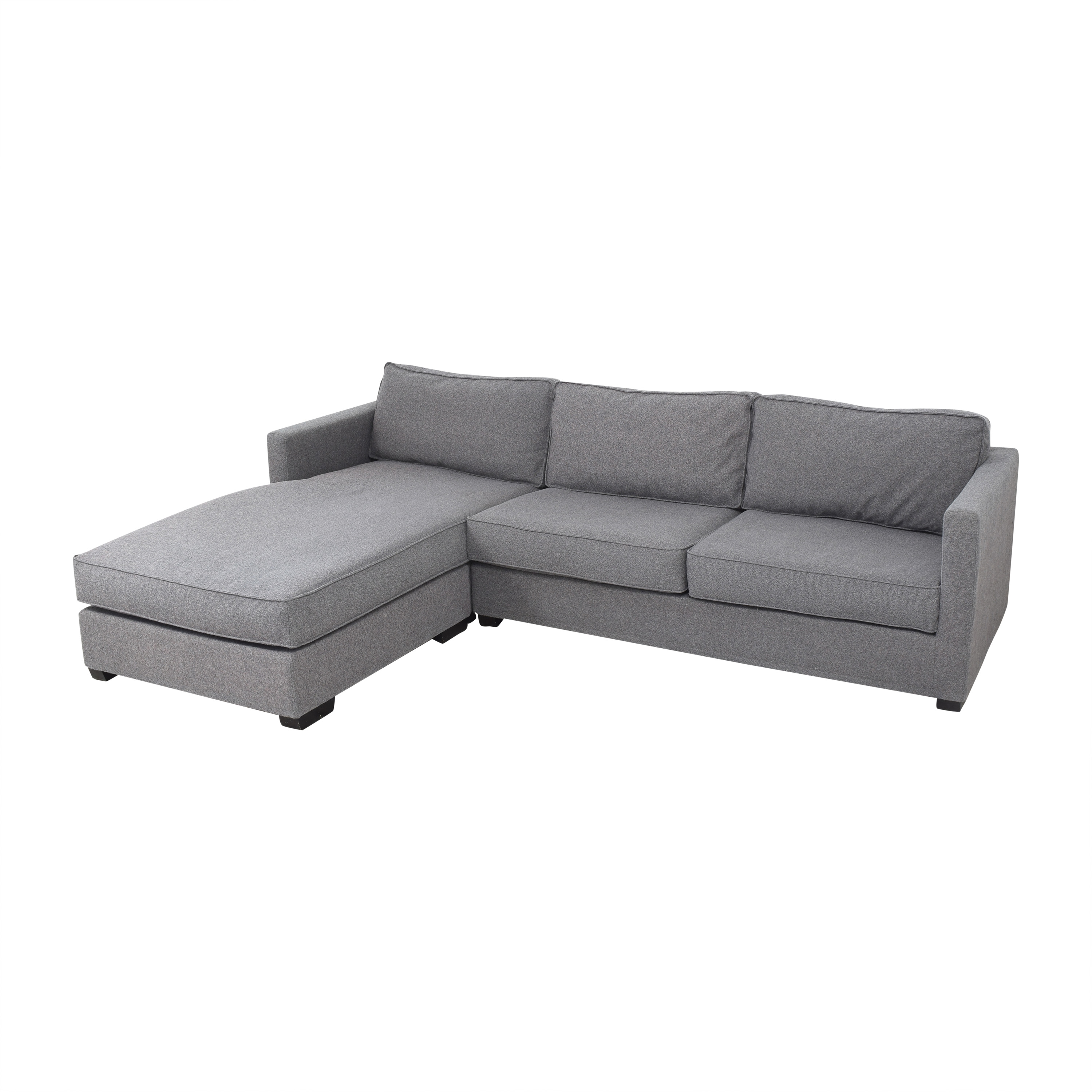 A & G Merch Two Piece Sectional Sofa with Chaise sale