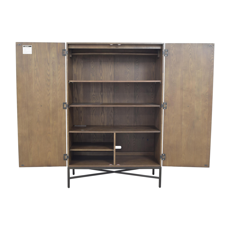buy West Elm Paneled Armoire West Elm Storage