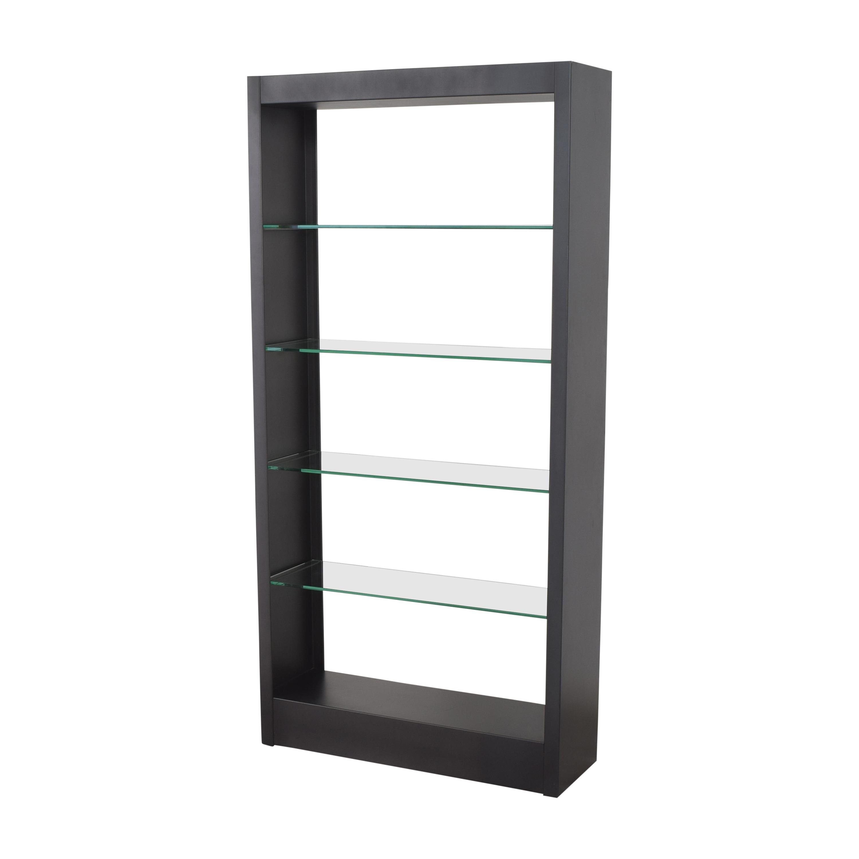 shop Modern Bookcase with Transparent Shelves