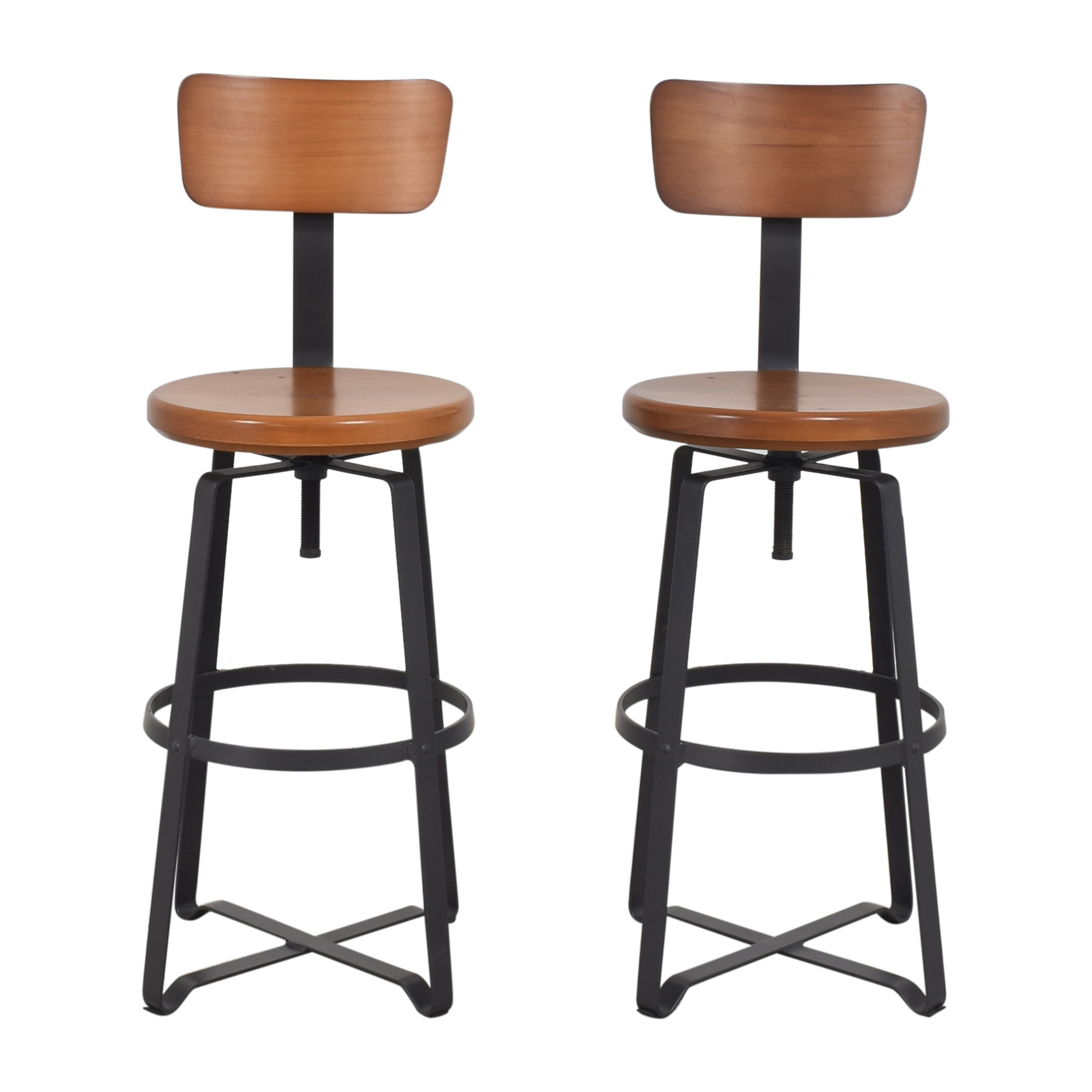 West Elm West Elm Adjustable Industrial Swivel Stools Stools