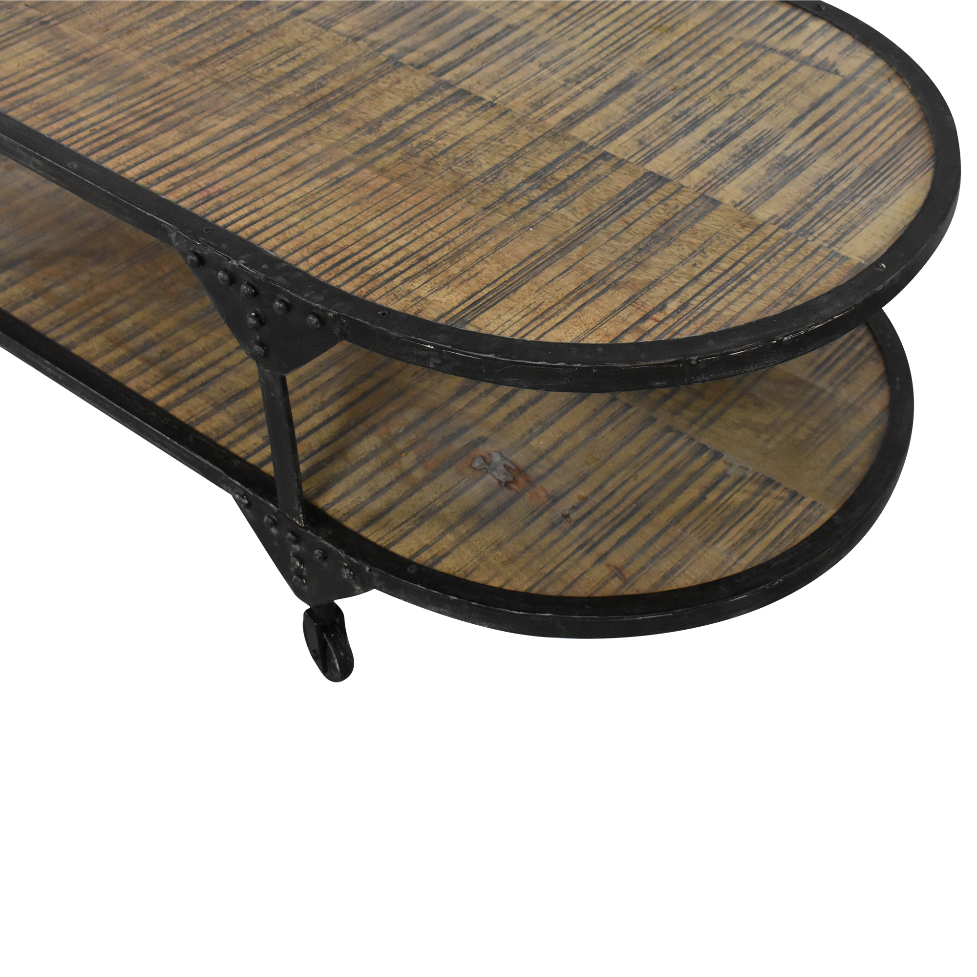 Two Tier Oval Coffee Table nyc