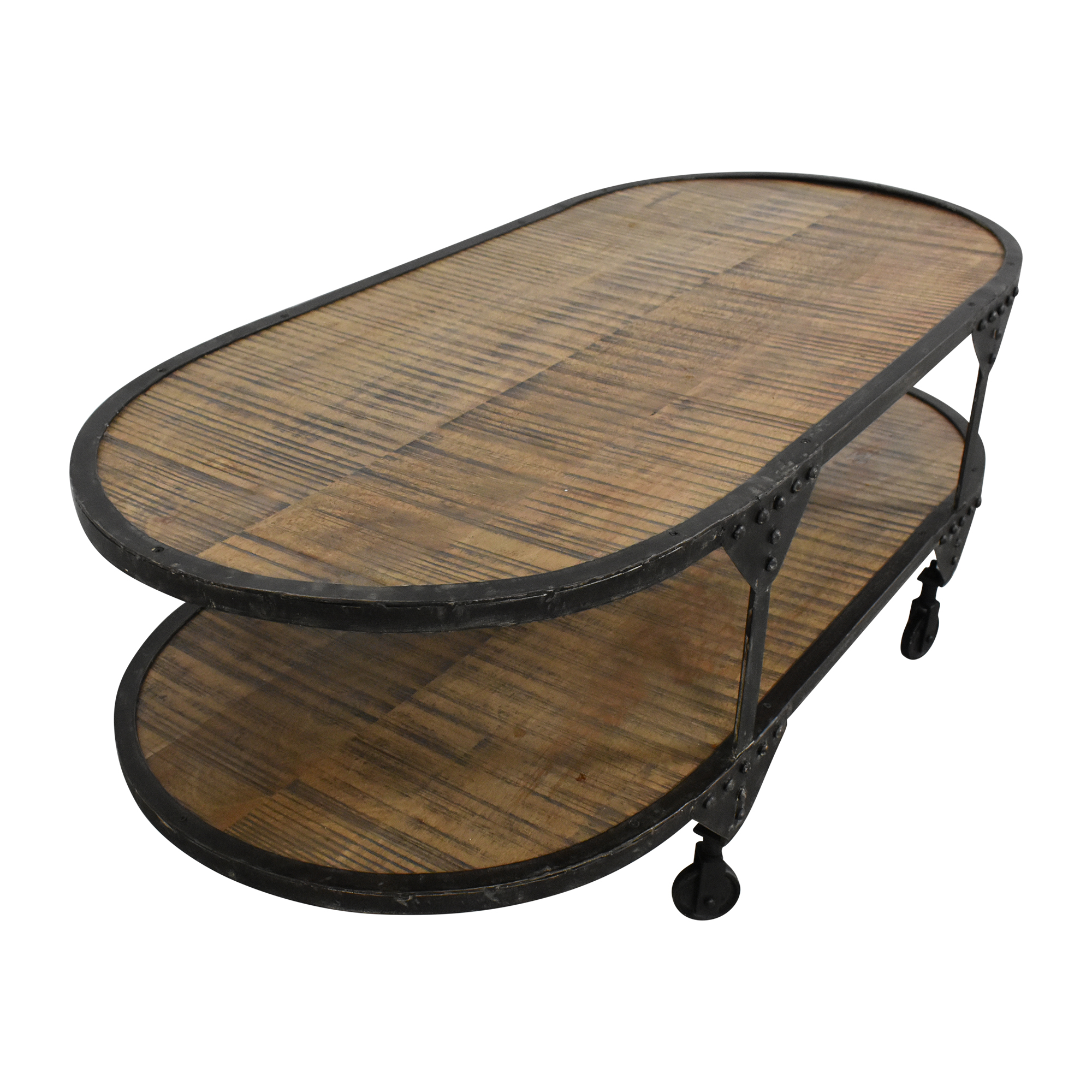 Two Tier Oval Coffee Table nj
