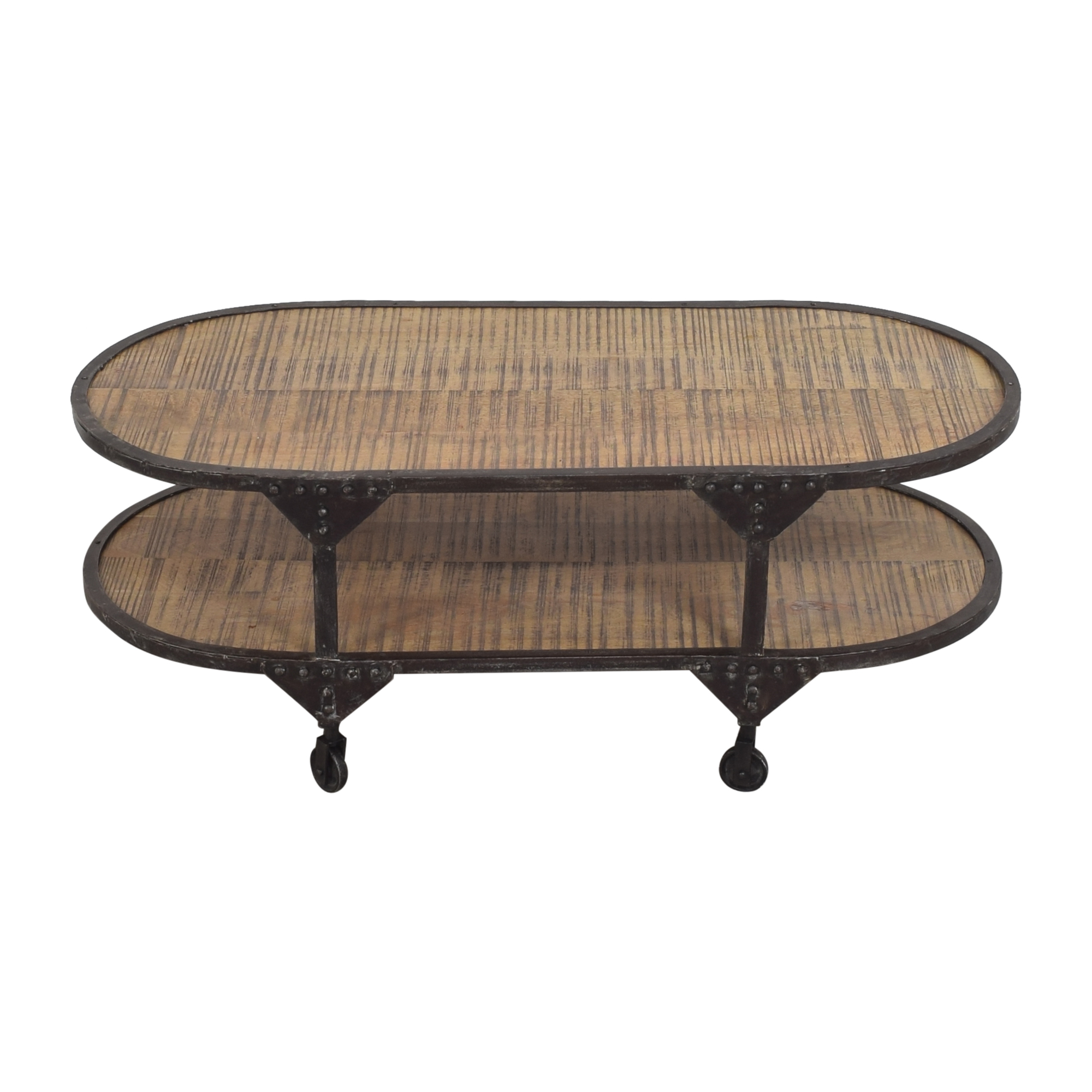 Two Tier Oval Coffee Table pa