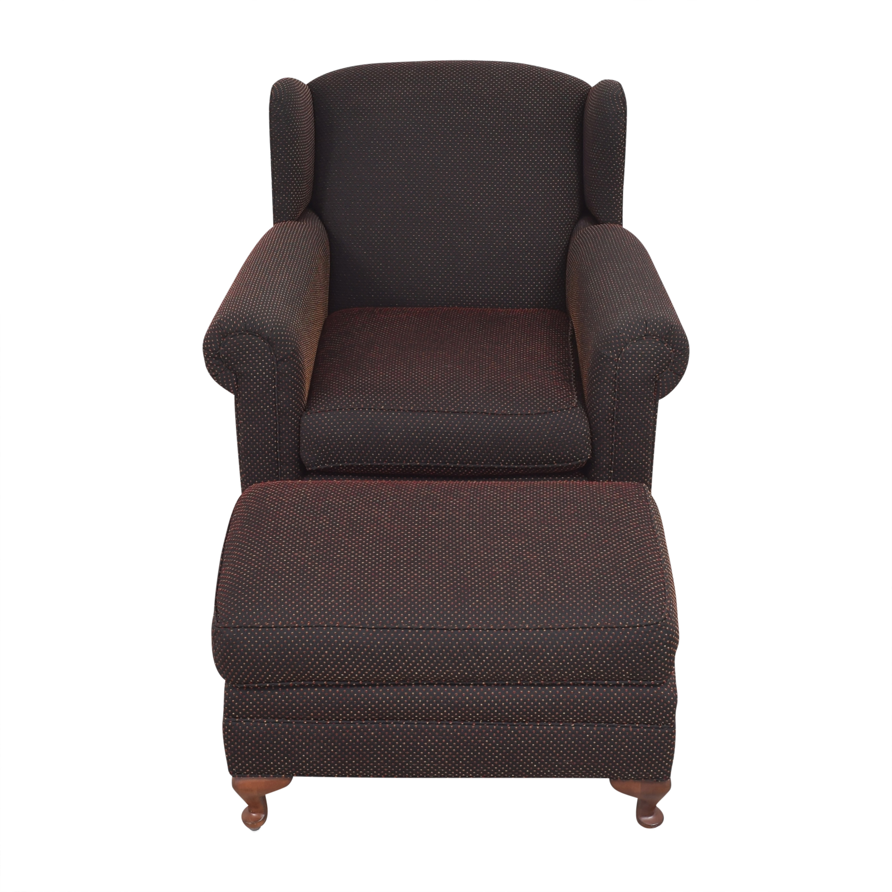 Wing Accent Chair with Ottoman sale