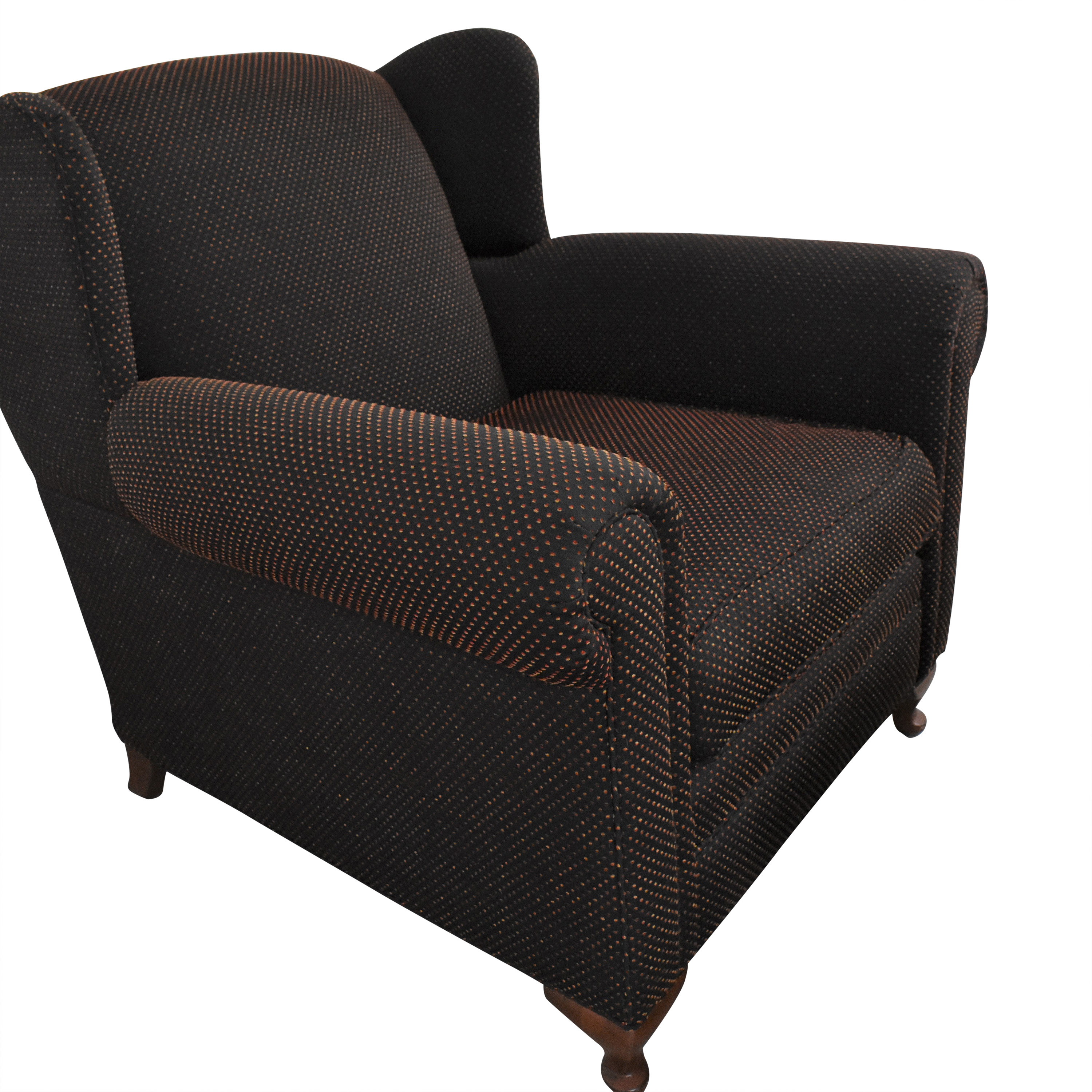 Wing Accent Chair with Ottoman for sale