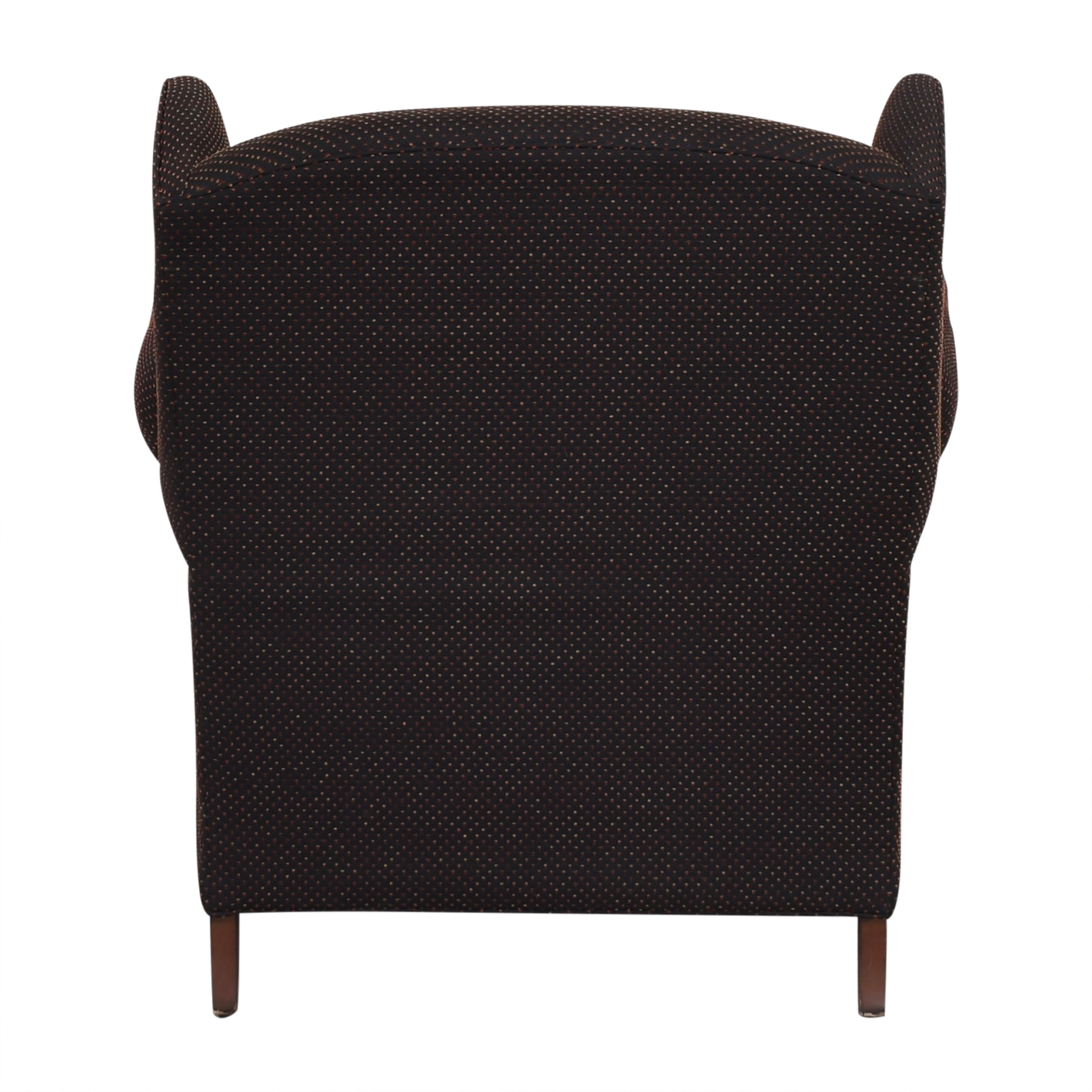 Wing Accent Chair with Ottoman on sale