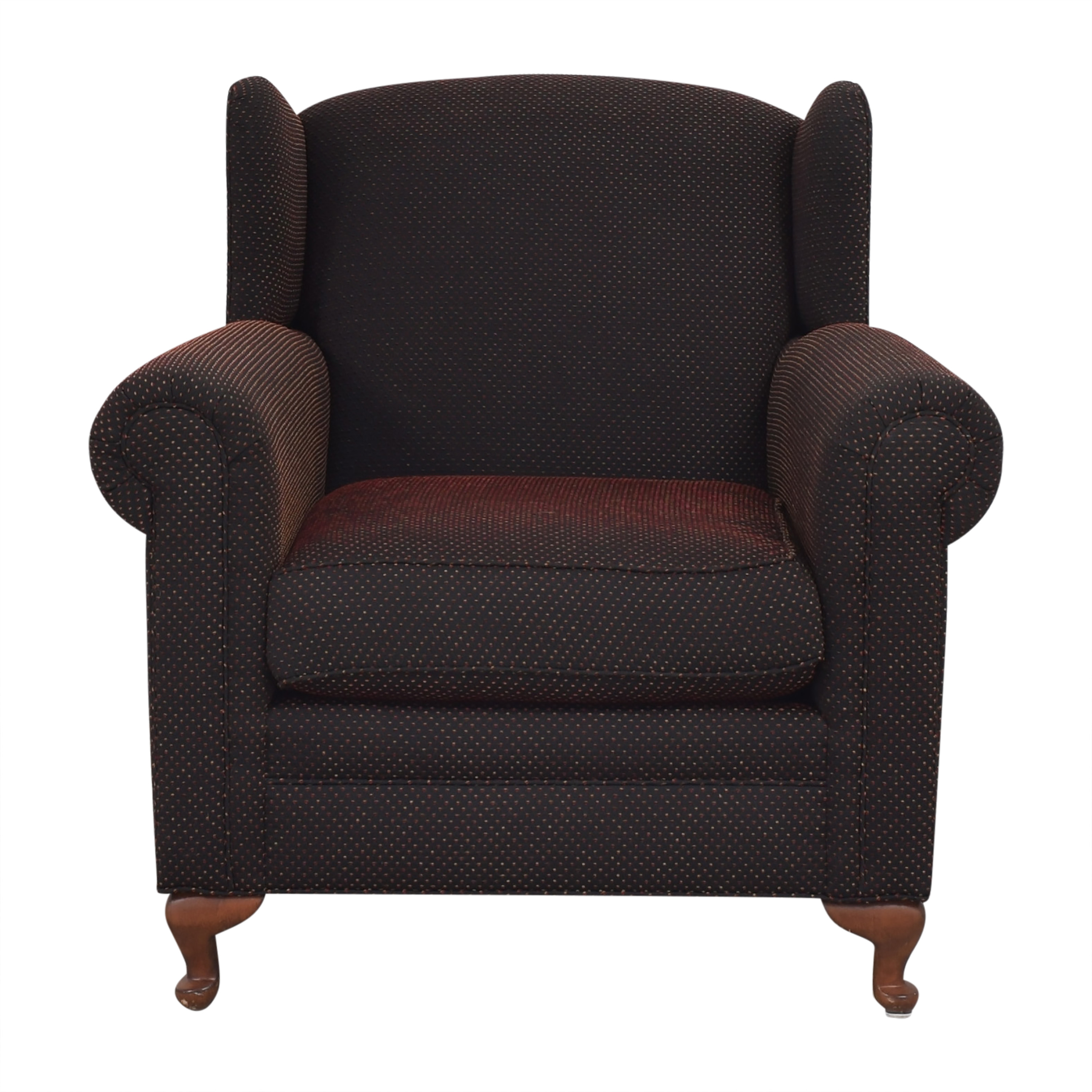 shop Wing Accent Chair with Ottoman  Chairs