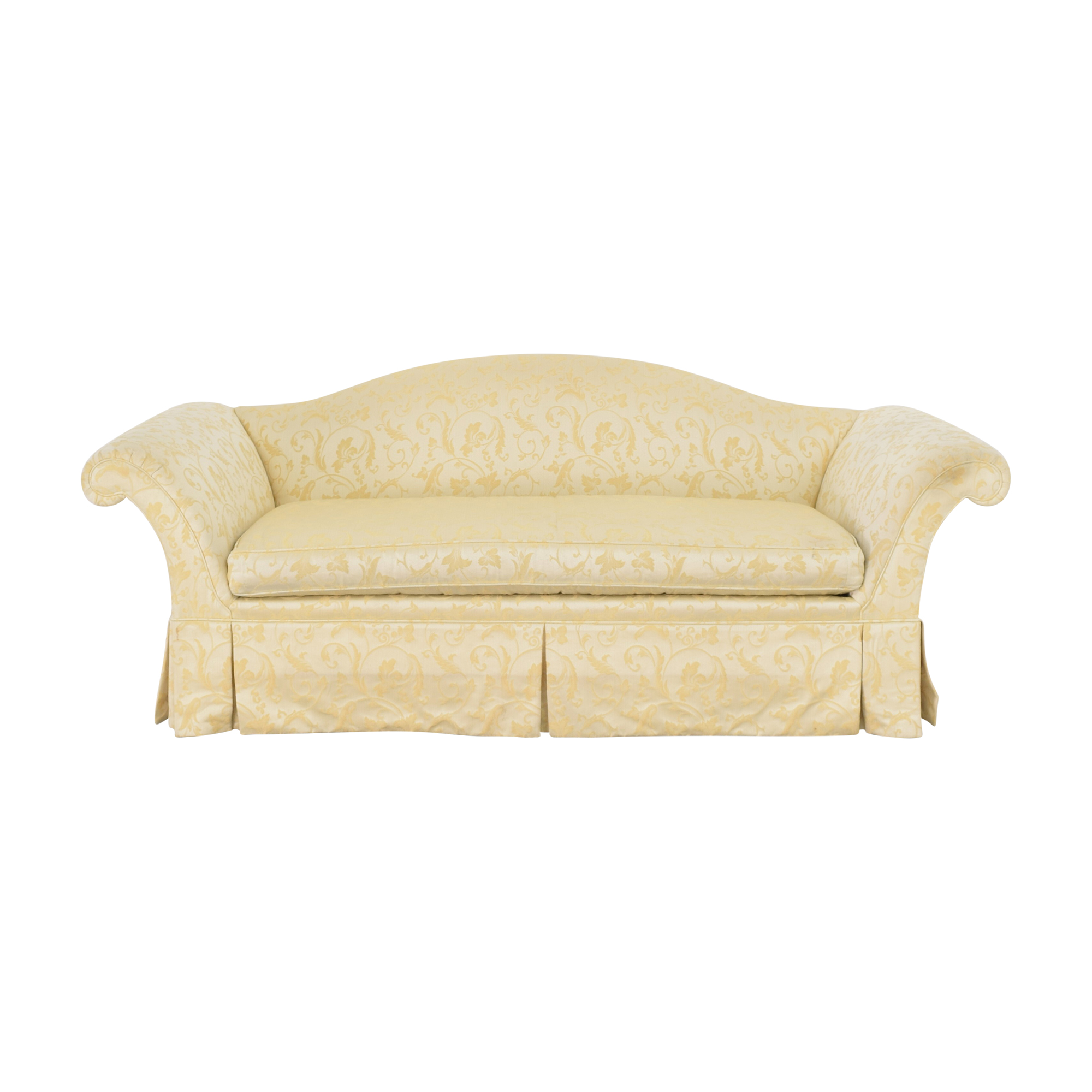 Kindel Kindel Skirted Camelback Sofa pa