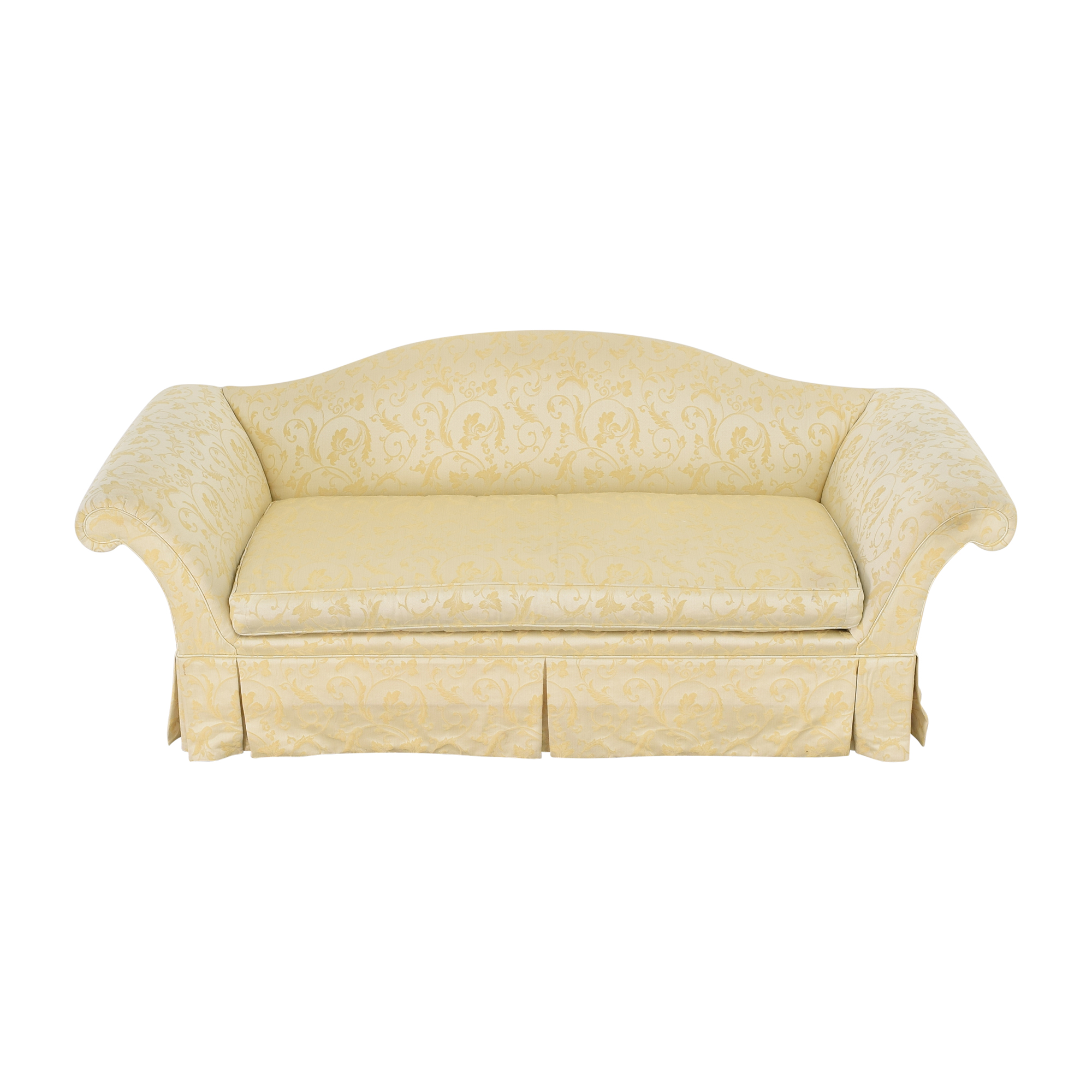 buy Kindel Skirted Camelback Sofa Kindel Sofas