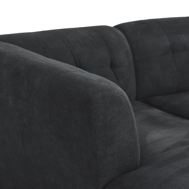 Raymour & Flanigan Raymour & Flanigan Tate Three Piece Modular Sofa  pa