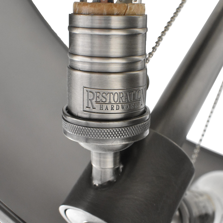 Restoration Hardware Restoration Hardware Antiqued Drum Floor Lamp silver and dark gray