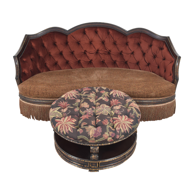 ABC Carpet & Home ABC Carpet & Home Ornate Sofa with Ottoman